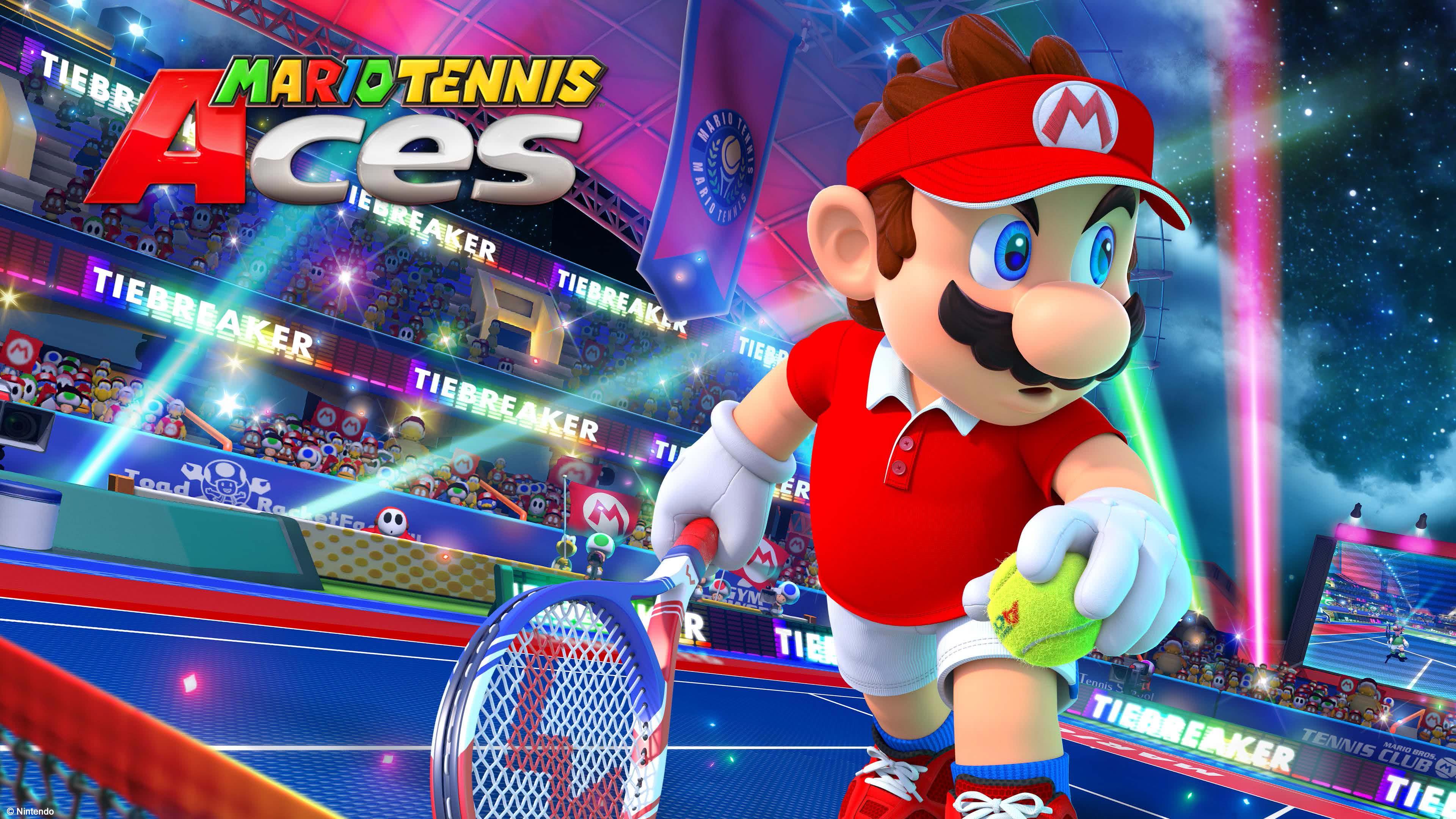 mario tennis aces uhd 4k wallpaper