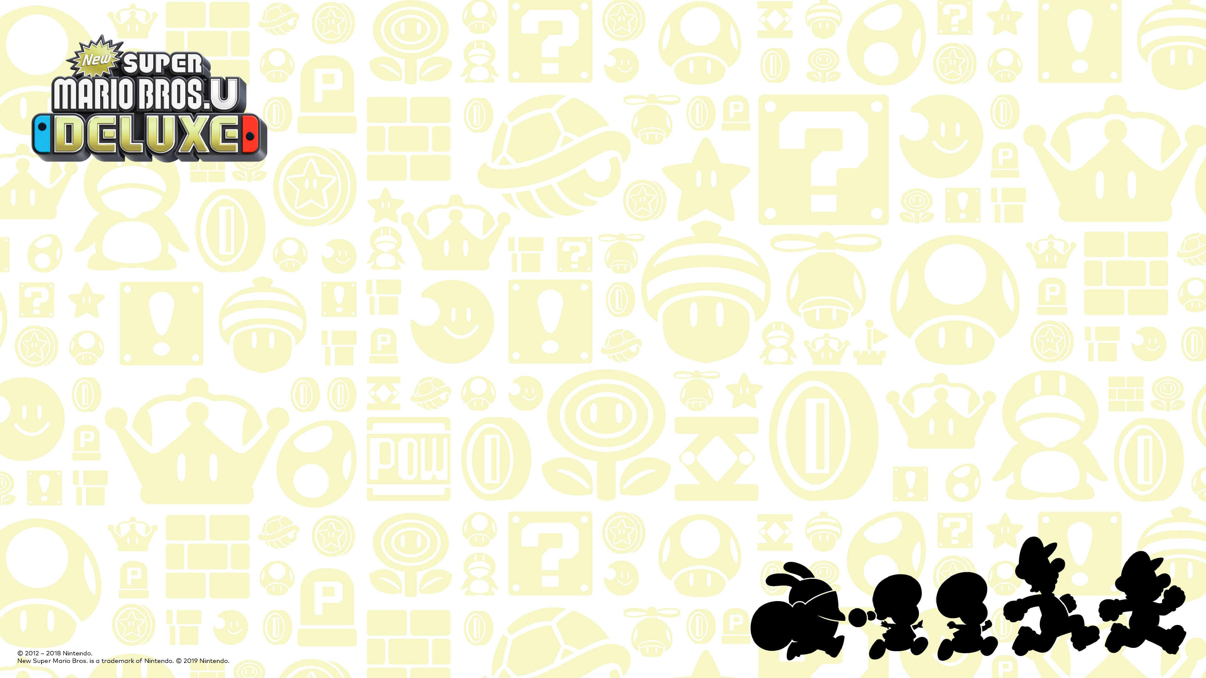new super mario bros u deluxe silhouette uhd 4k wallpaper