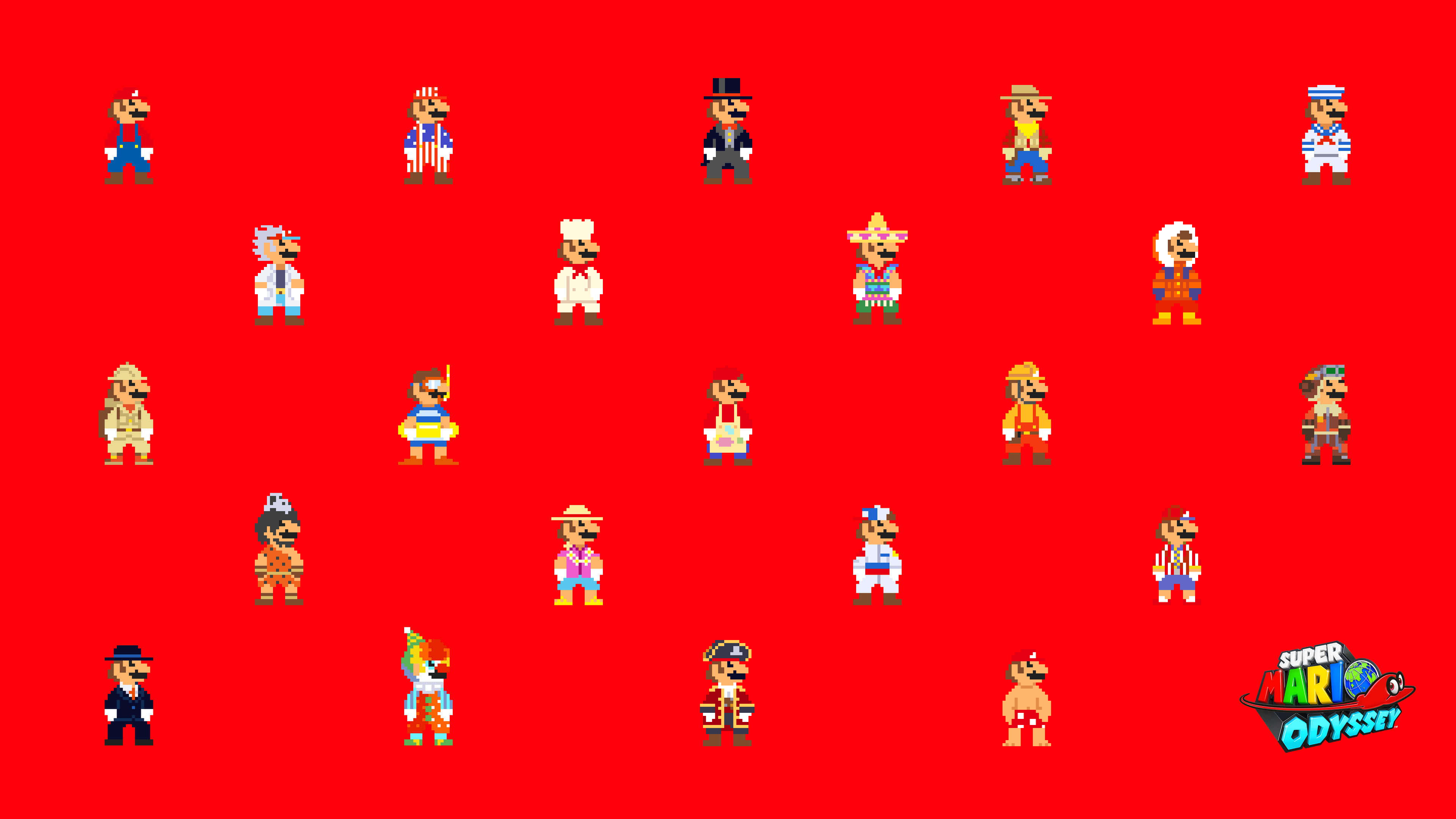 Super Mario Odyssey 8bit Mario Uhd 4k Wallpaper Pixelz