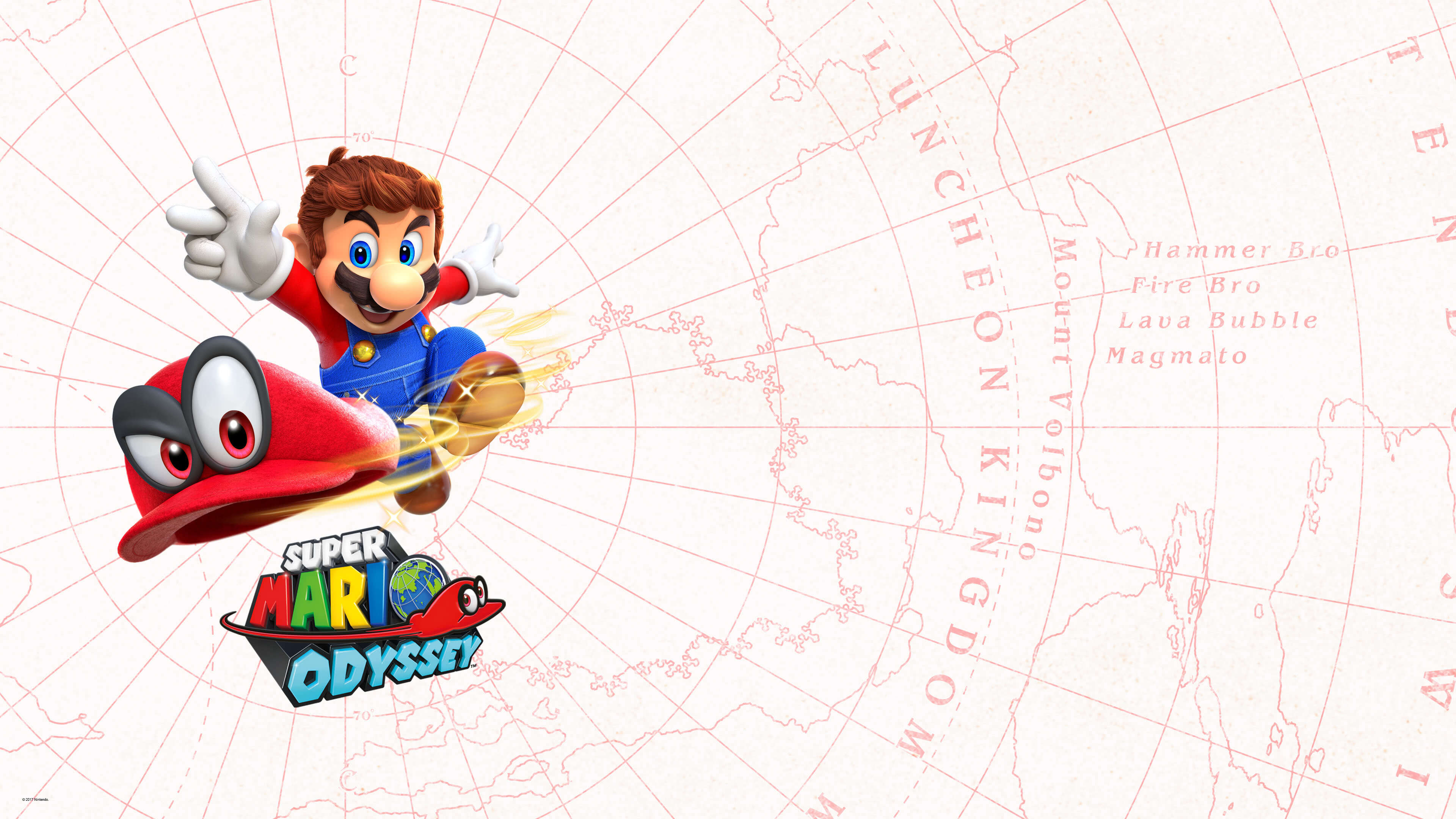 Super Mario Odyssey White Map Uhd 4k Wallpaper Pixelz