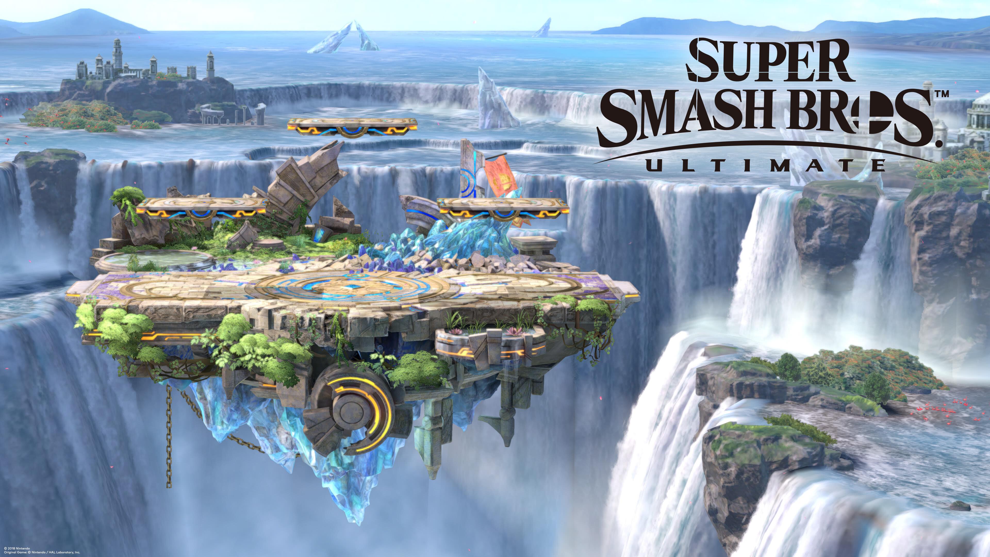 super smash brothers ultimate battlefield uhd 4k wallpaper
