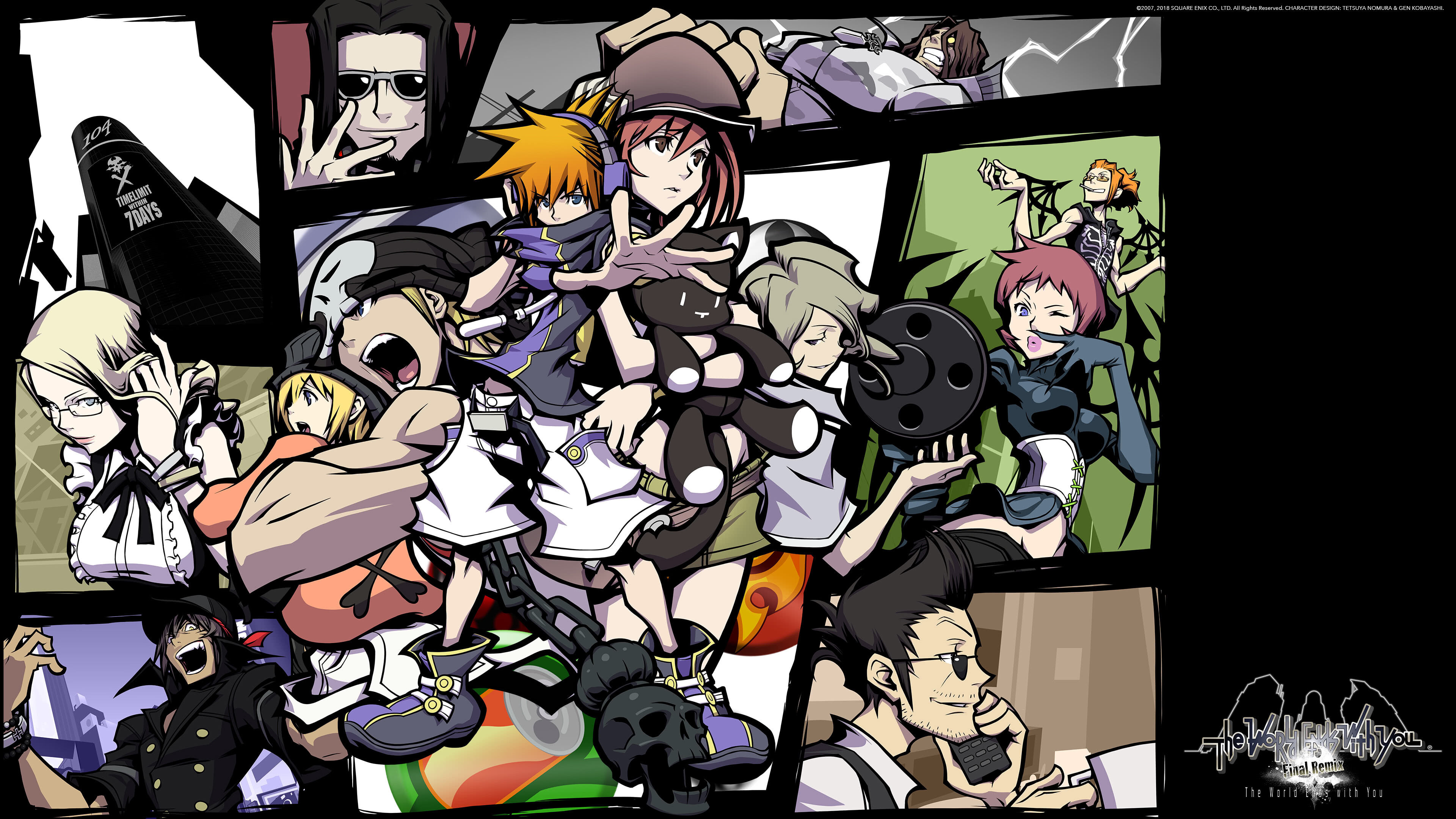 the world ends with you final remix uhd 4k wallpaper