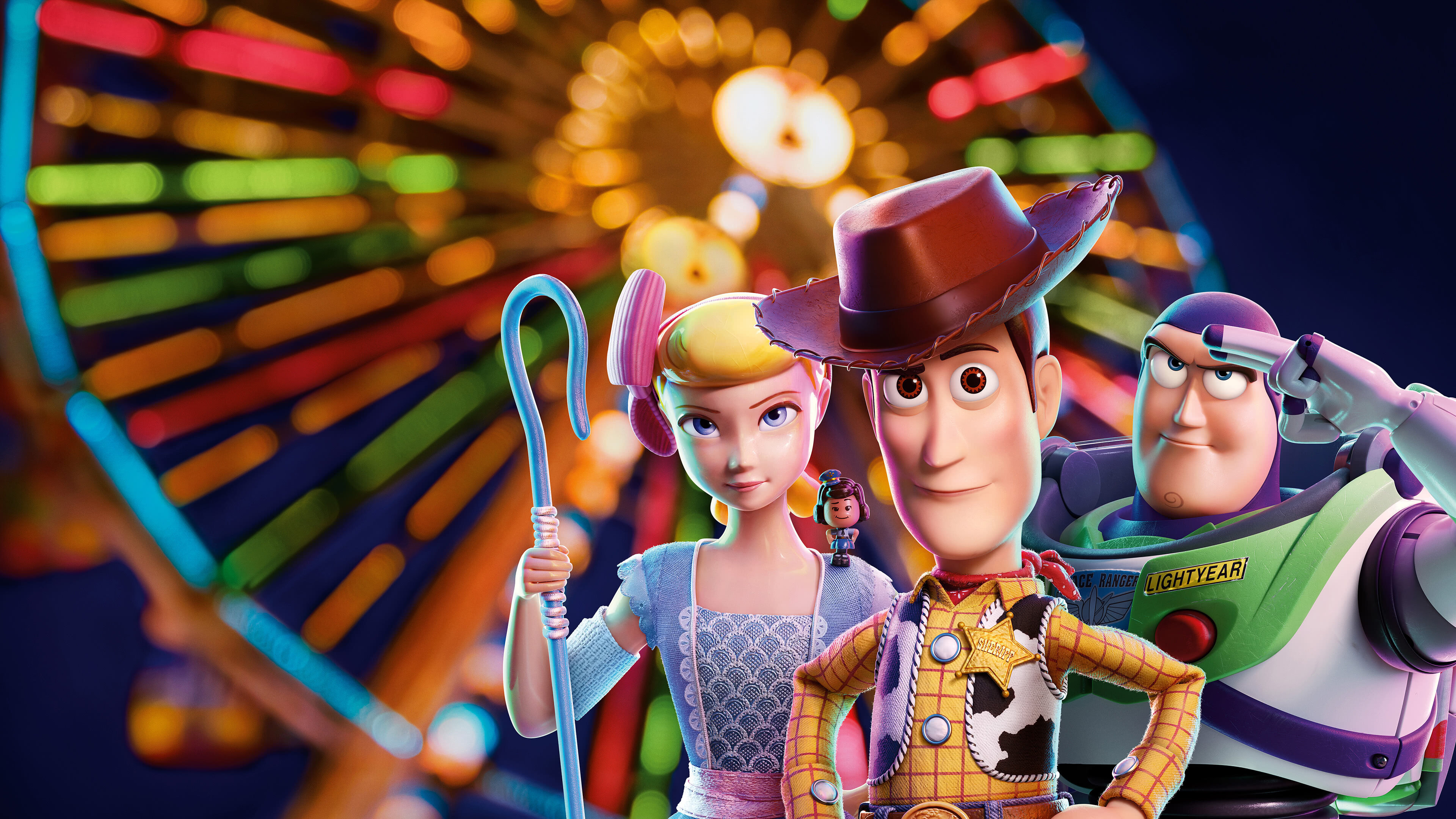Toy Story 4 Bo Peep Woody Buzz Lightyear Uhd 4k Wallpaper