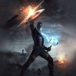 avengers endgame captain america mjolnir hammer uhd 4k wallpaper