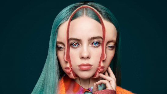 billie eilish portrait uhd 4k wallpaper