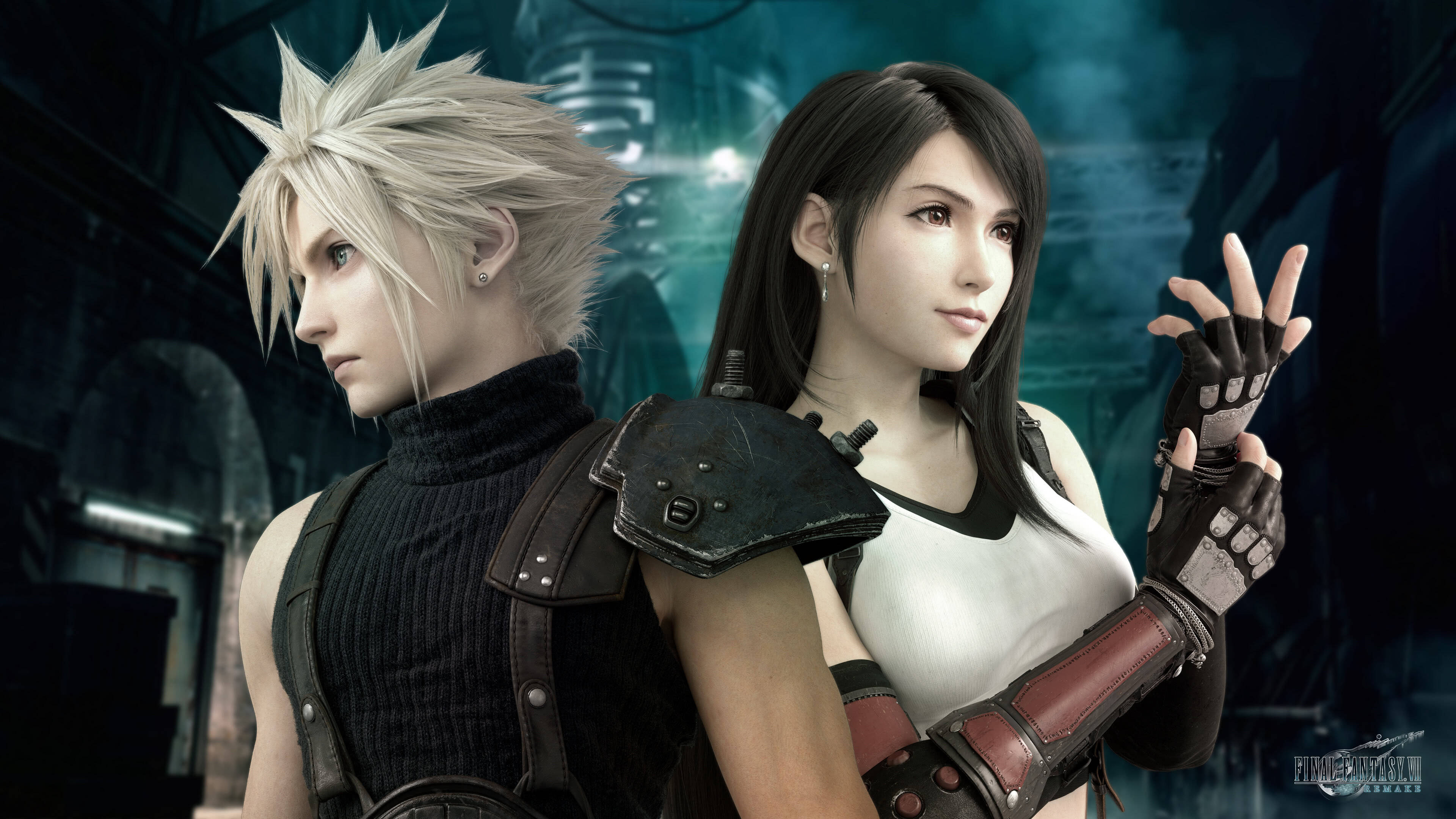Final Fantasy 7 Remake Cloud Strife Tifa Lockhart Uhd 4k Wallpaper