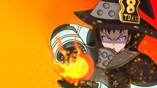 fire force maki oze fire uhd 4k wallpaper