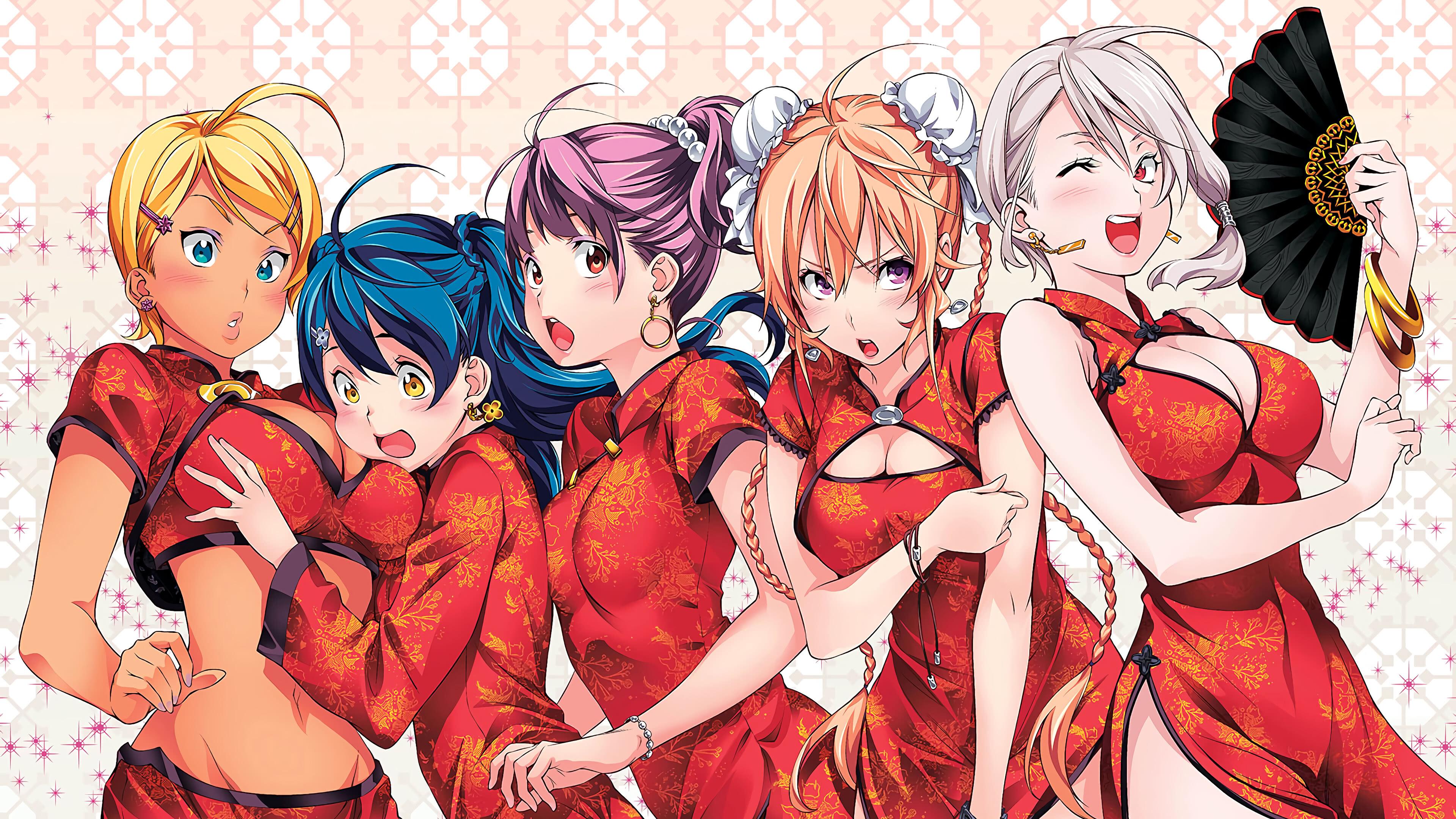 Food Wars Shokugeki No Soma Female Characters UHD 4K ...