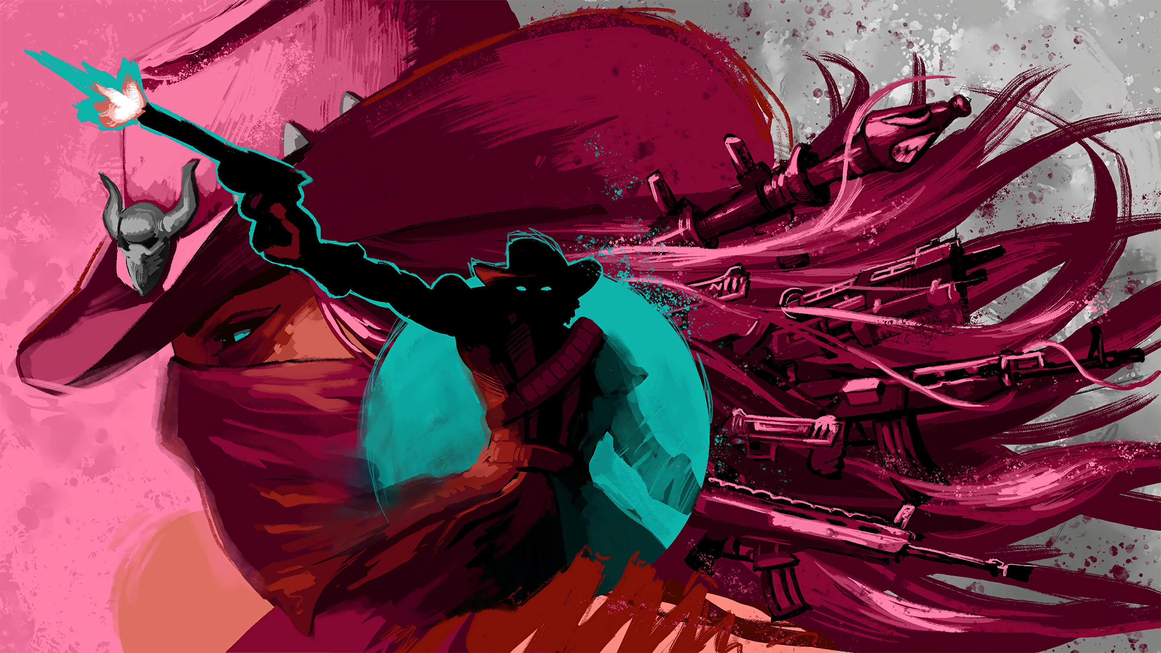 fortnite loading screen western wild duo uhd 4k wallpaper
