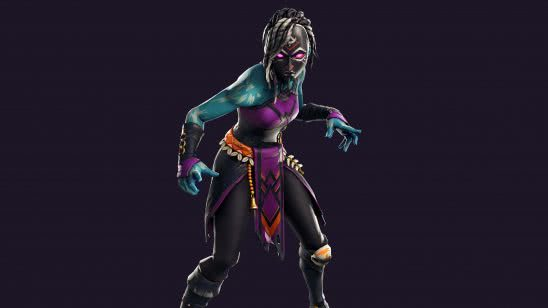 fortnite moonbone set nightwitch skin outfit uhd 4k wallpaper