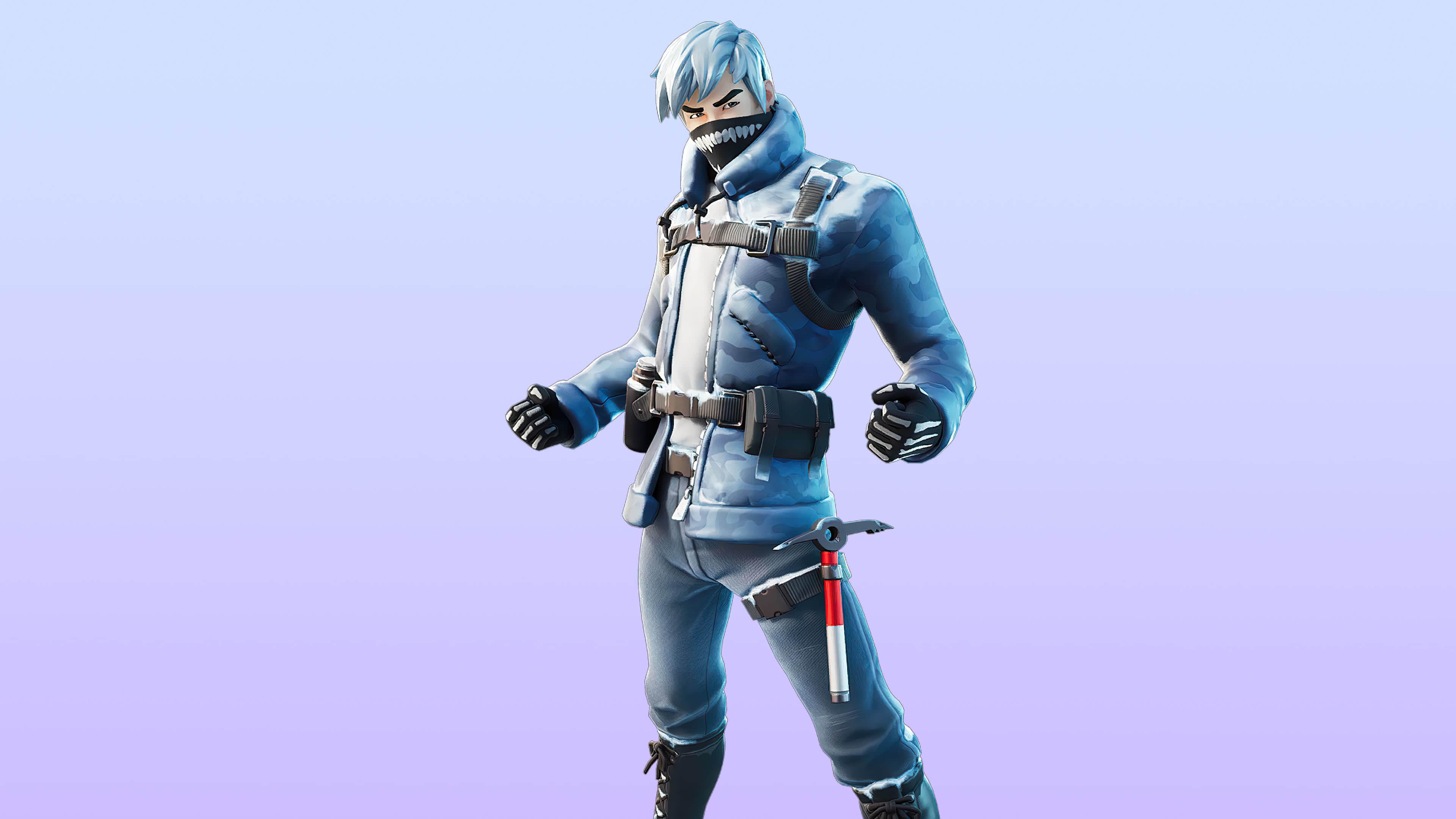 fortnite polar ice set snow patroller skin outfit uhd 4k wallpaper