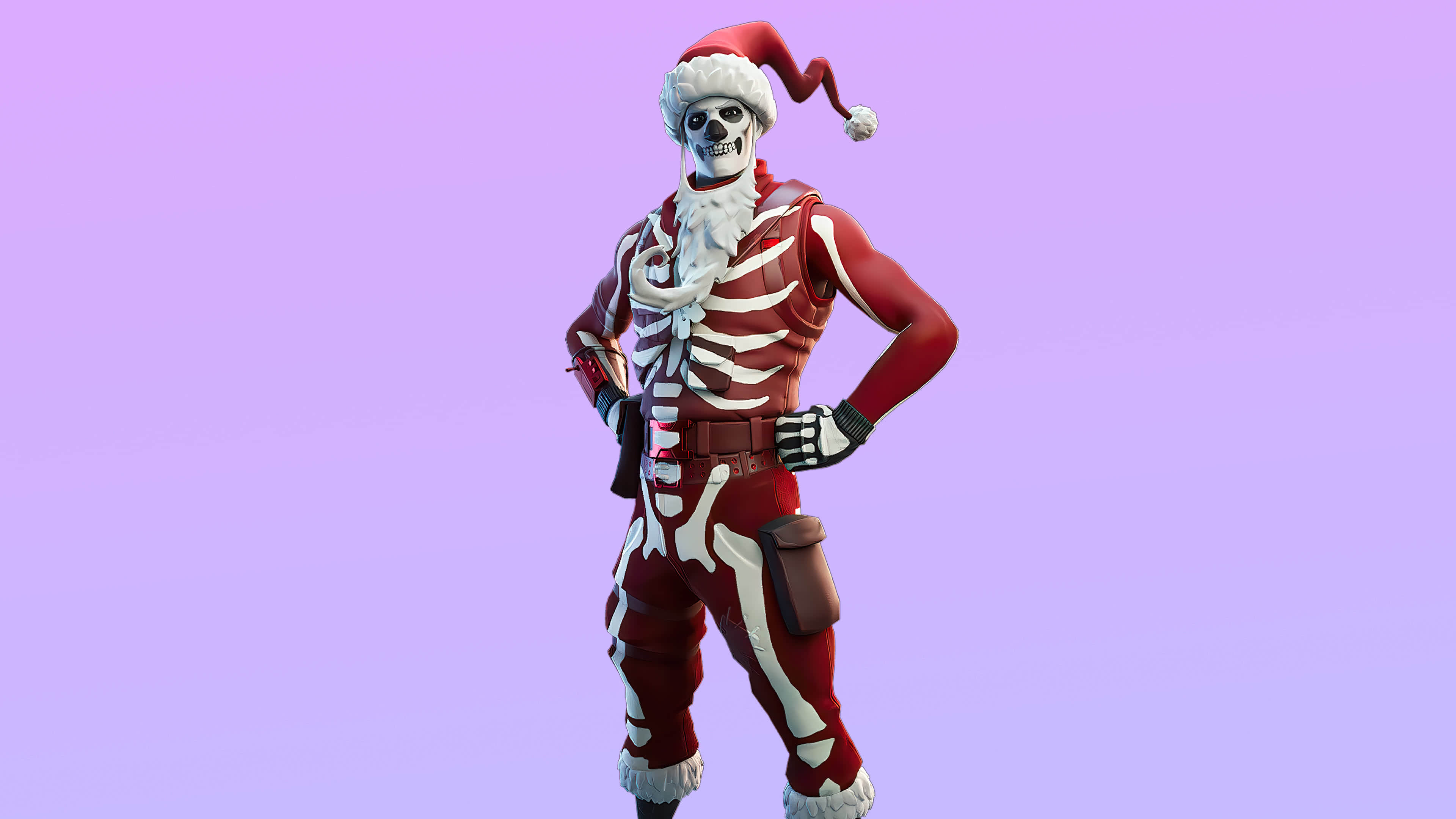 fortnite skull squad set yule trooper skin outfit uhd 4k wallpaper