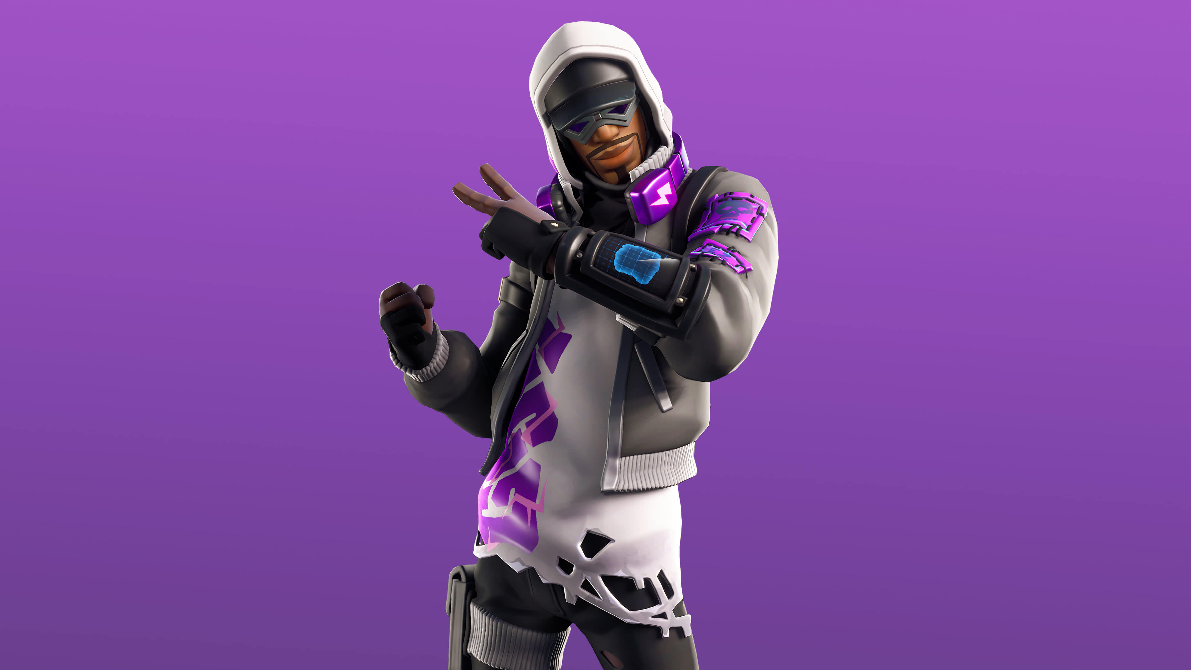 fortnite storm stalker set stratus skin outfit uhd 4k wallpaper