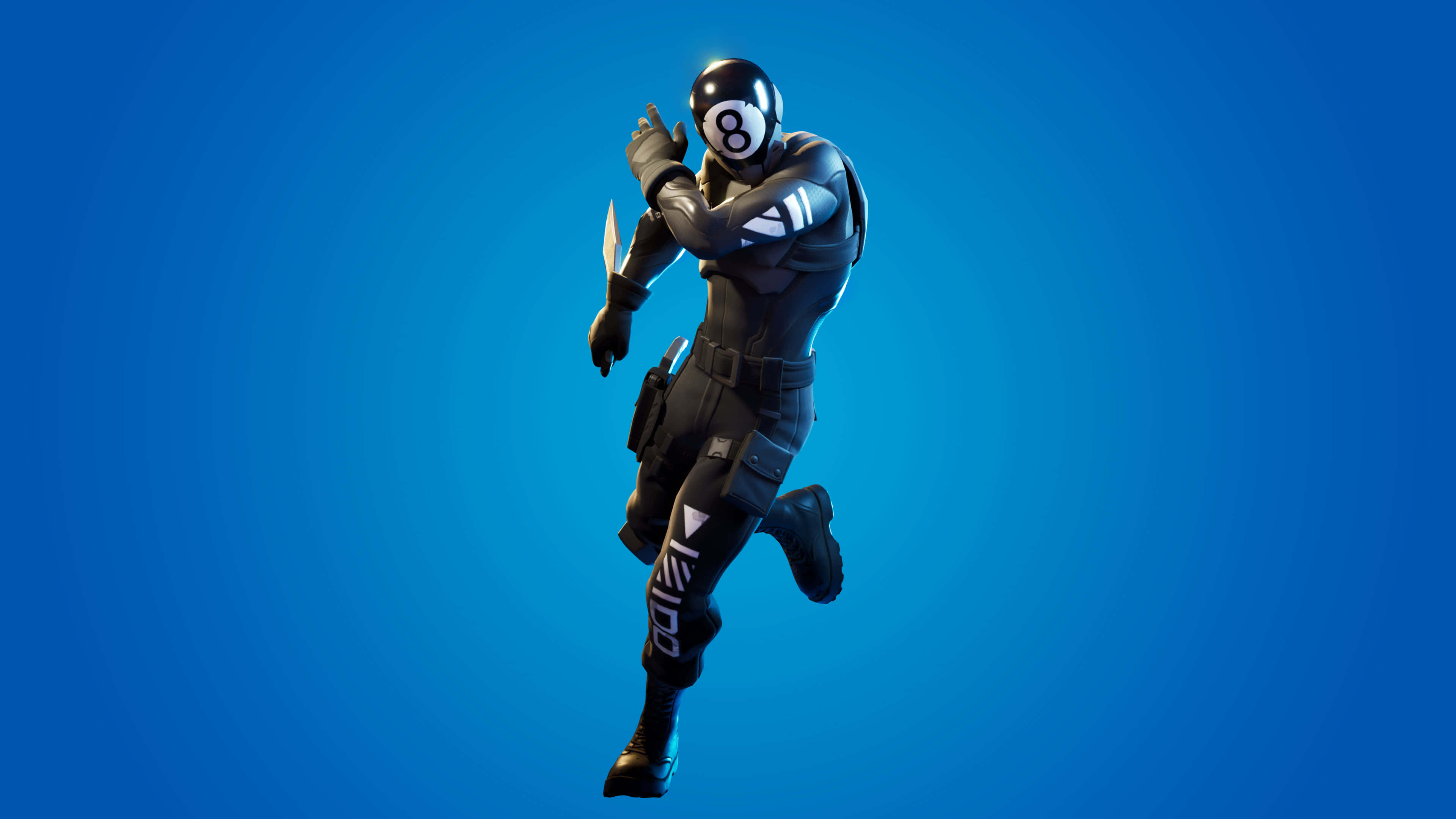 fortnite stripes and solids set 8-ball vs scratch skin outfit uhd 4k wallpaper