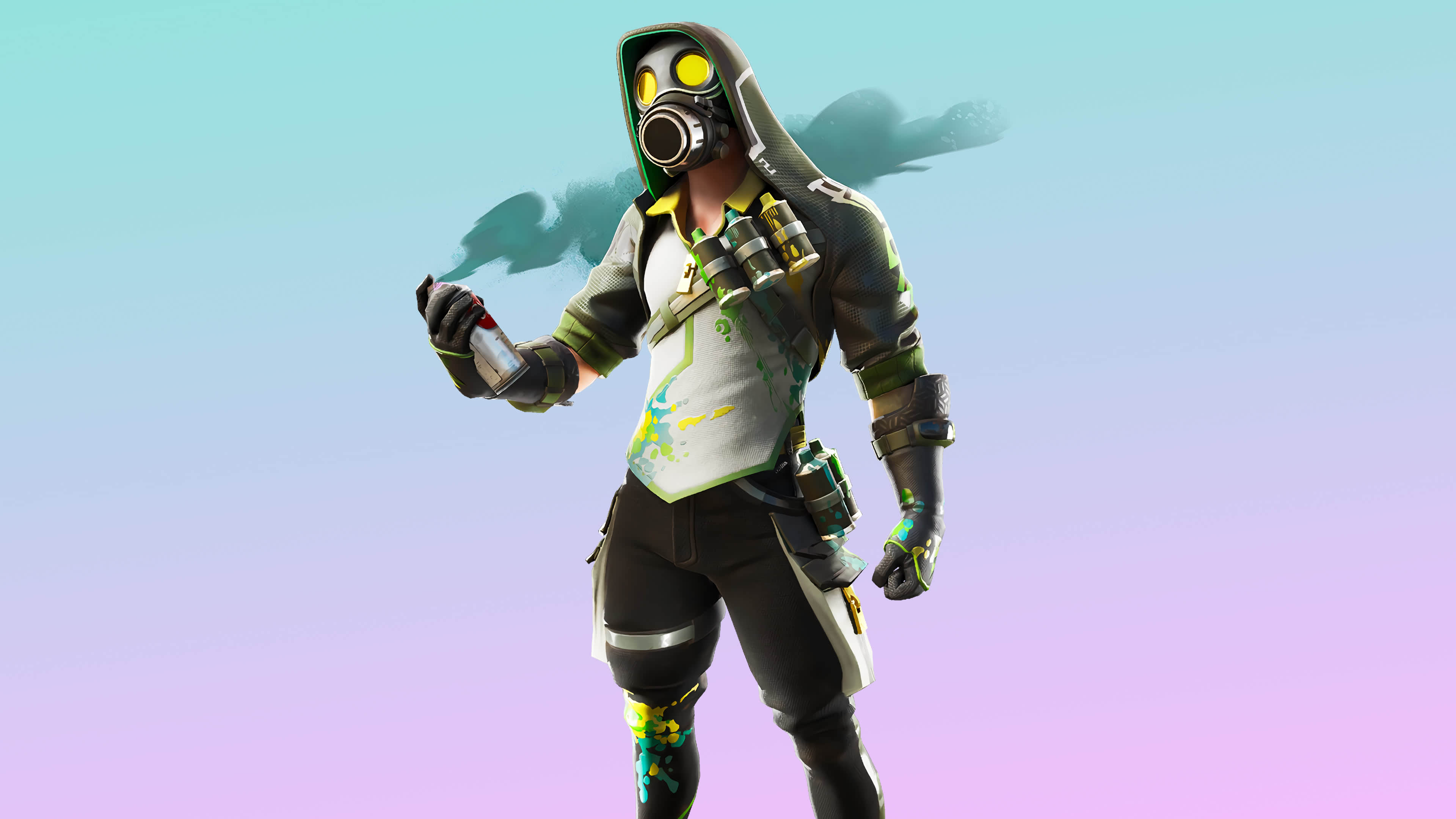 fortnite toxic tagger skin outfit uhd 4k wallpaper