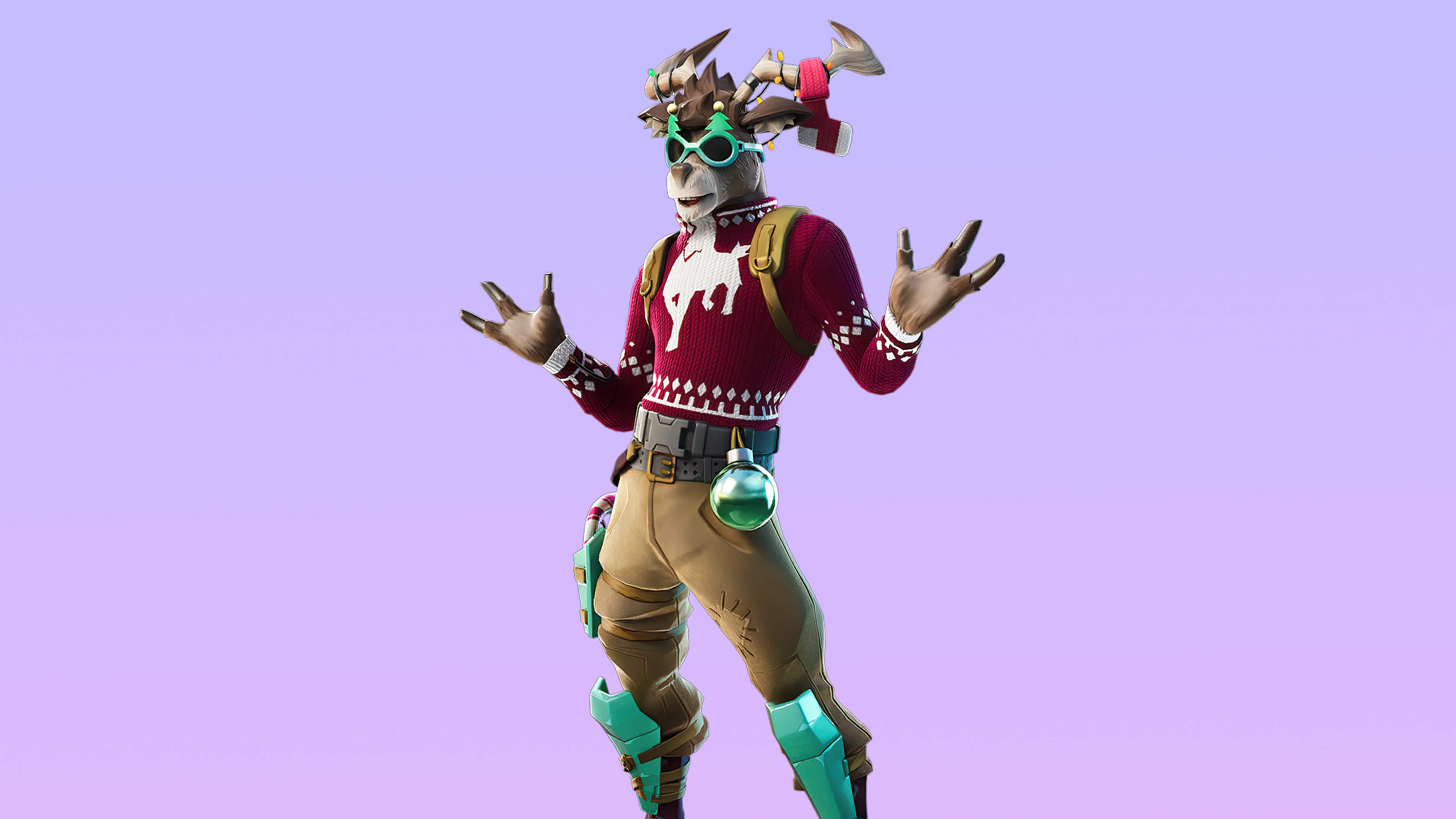 fortnite winter wonderland set dolph skin outfit uhd 4k wallpaper
