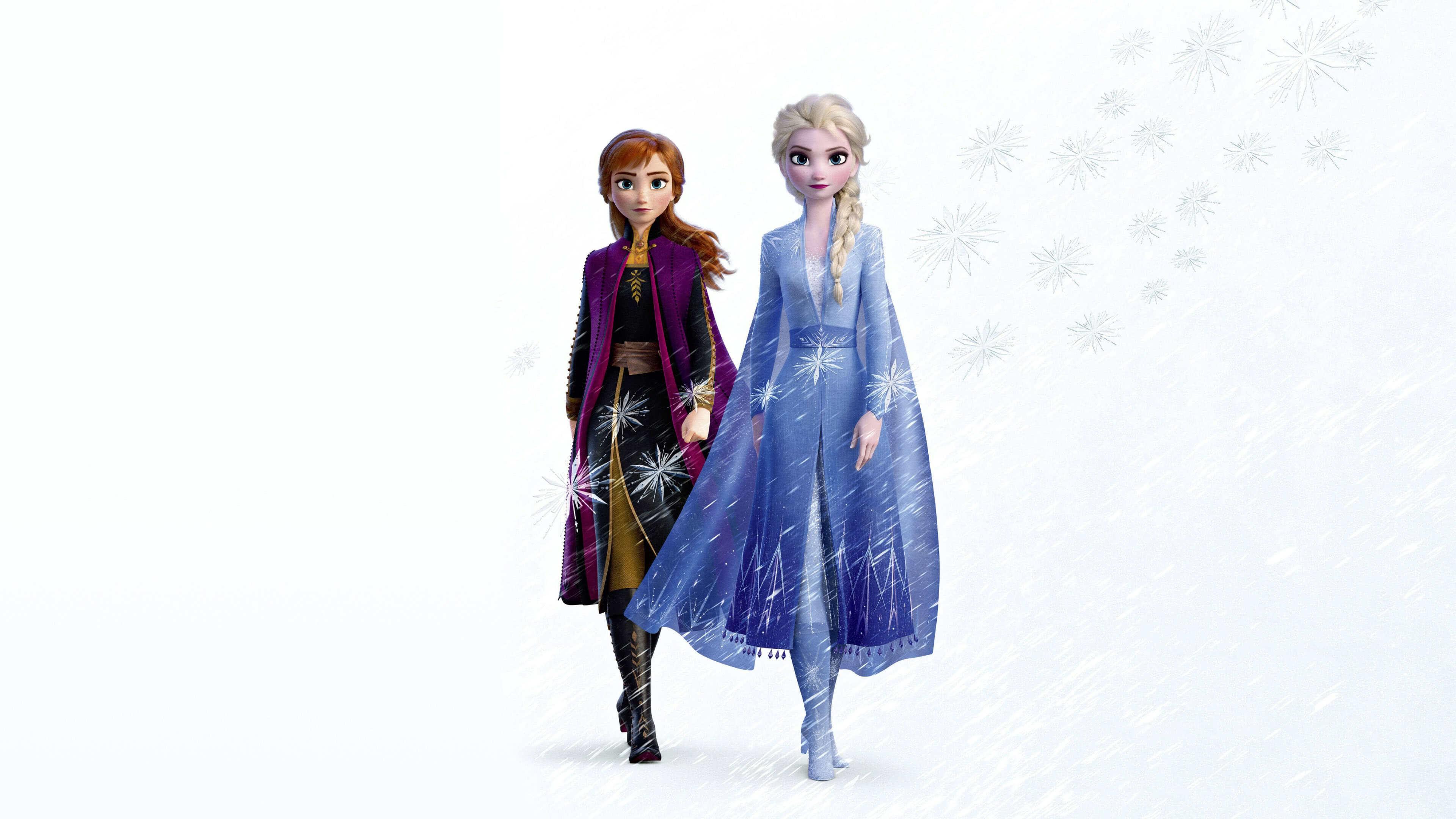 frozen 2 elsa and anna uhd 4k wallpaper