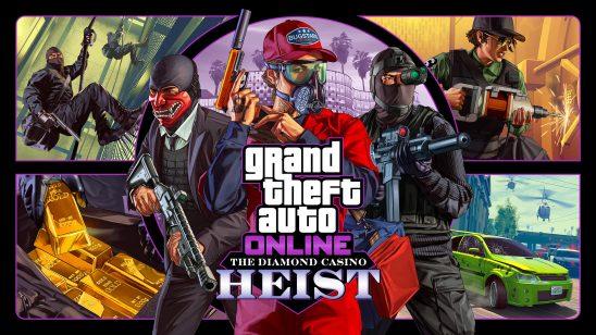 grand theft auto 5 online the diamond casino heist uhd 4k wallpaper