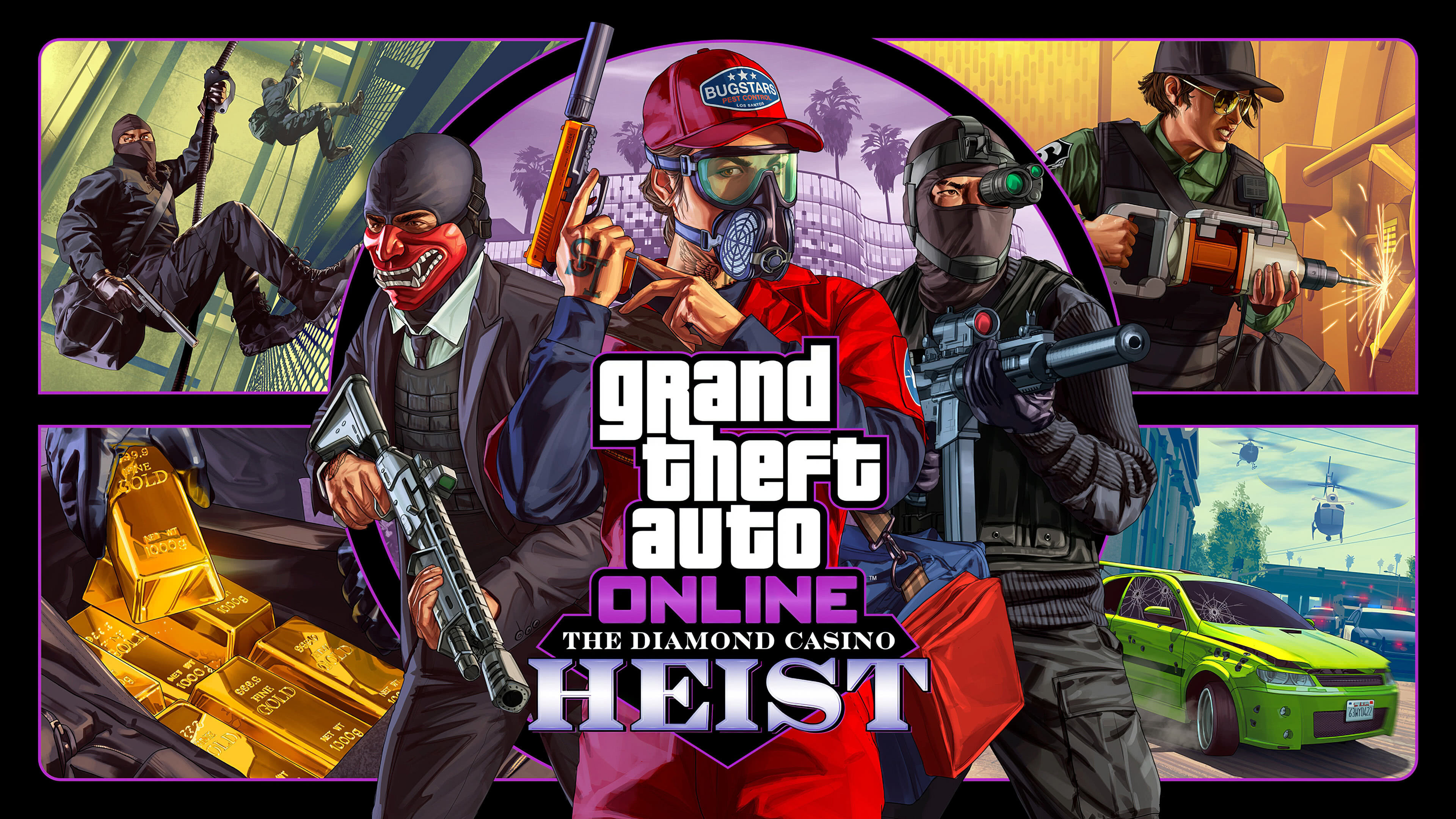 grand theft auto 5 online the diamond casino heist uhd 4k wallpaper