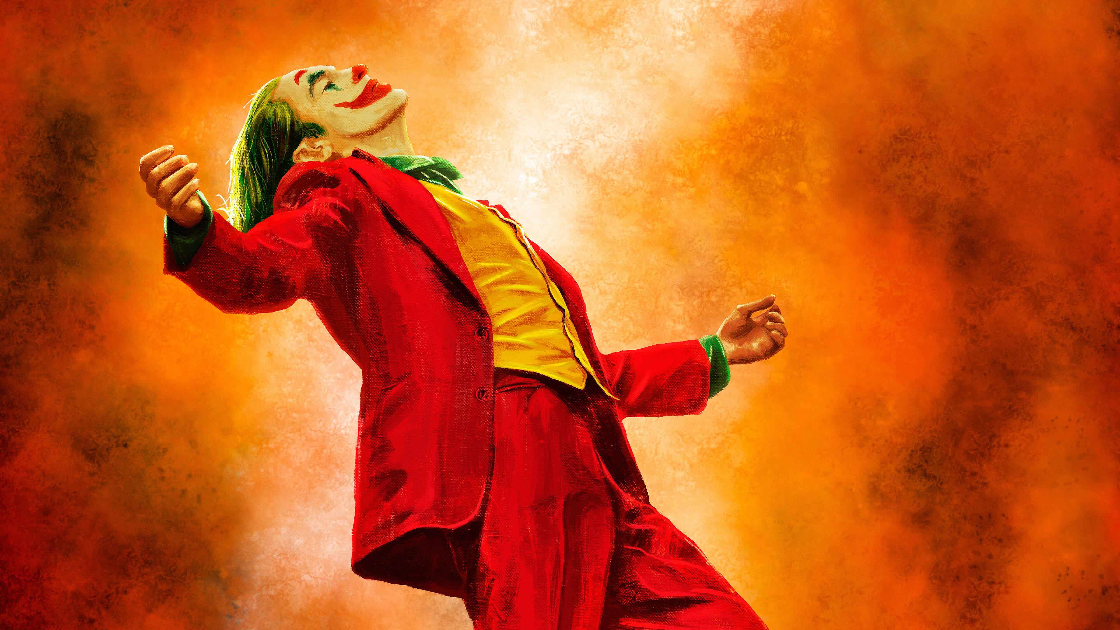 joker joaquin phoenix painting uhd 4k wallpaper