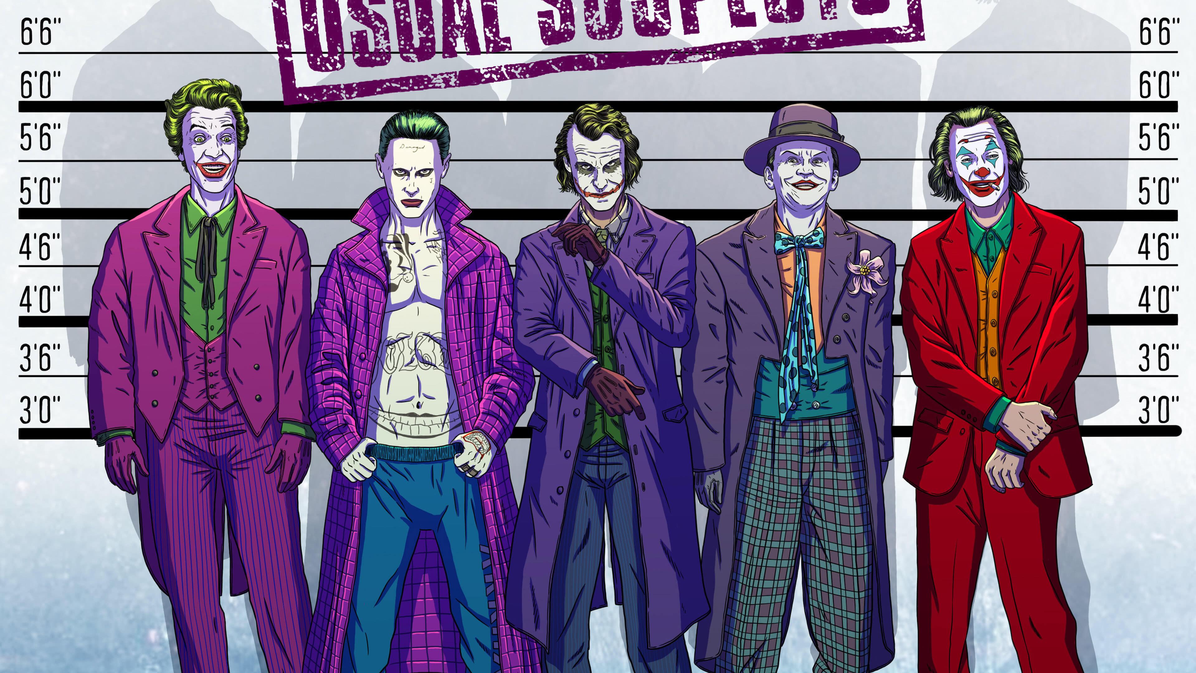 jokers police lineup uhd 4k wallpaper