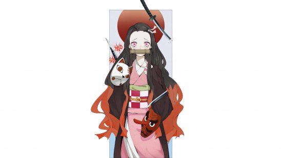 kimetsu no yaiba nezuko kamado uhd 4k wallpaper