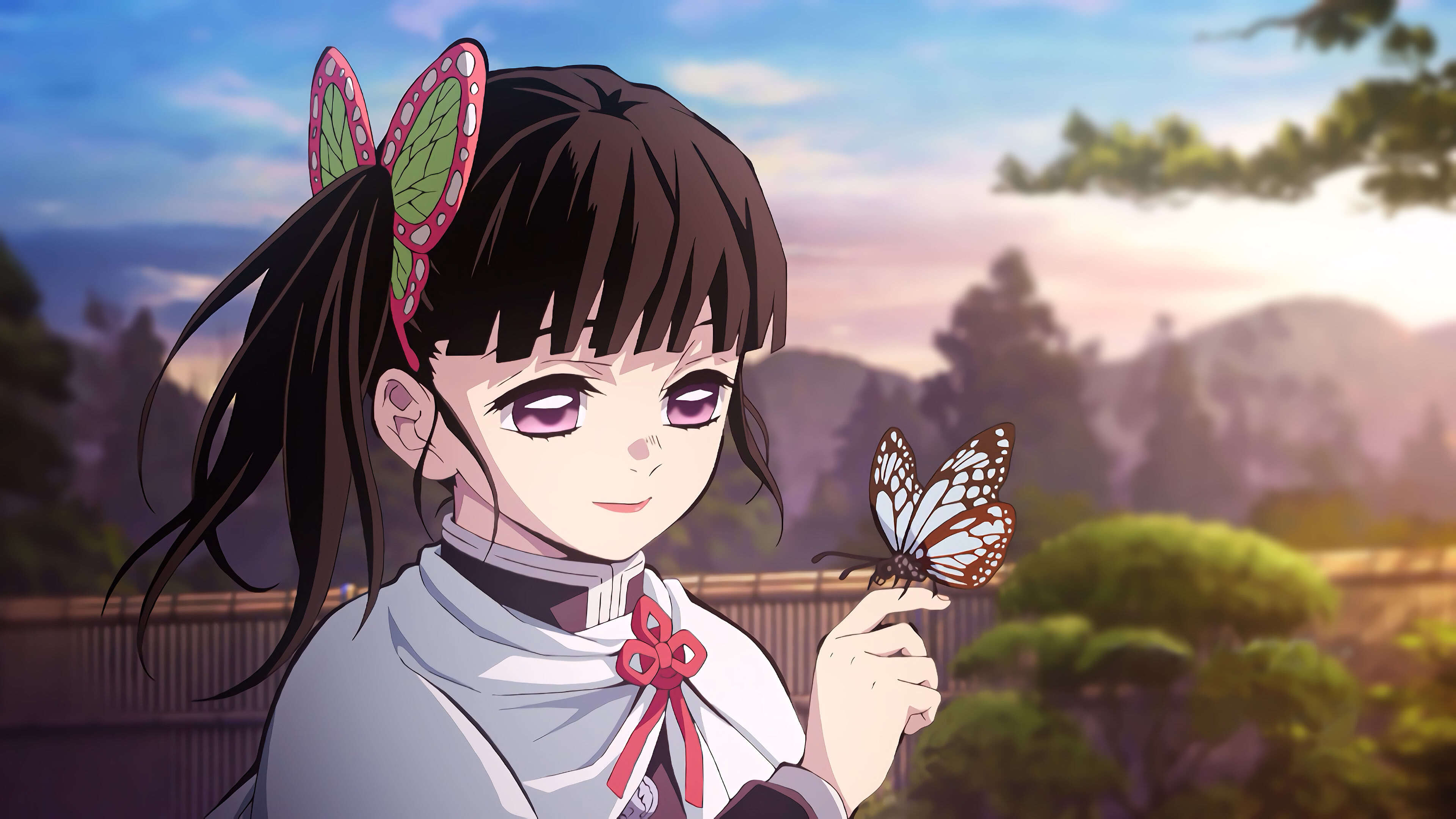 kimetsu no yaiba shinobu kocho butterfly uhd 4k wallpaper