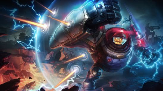 league of legends blitzcrank riot uhd 4k wallpaper