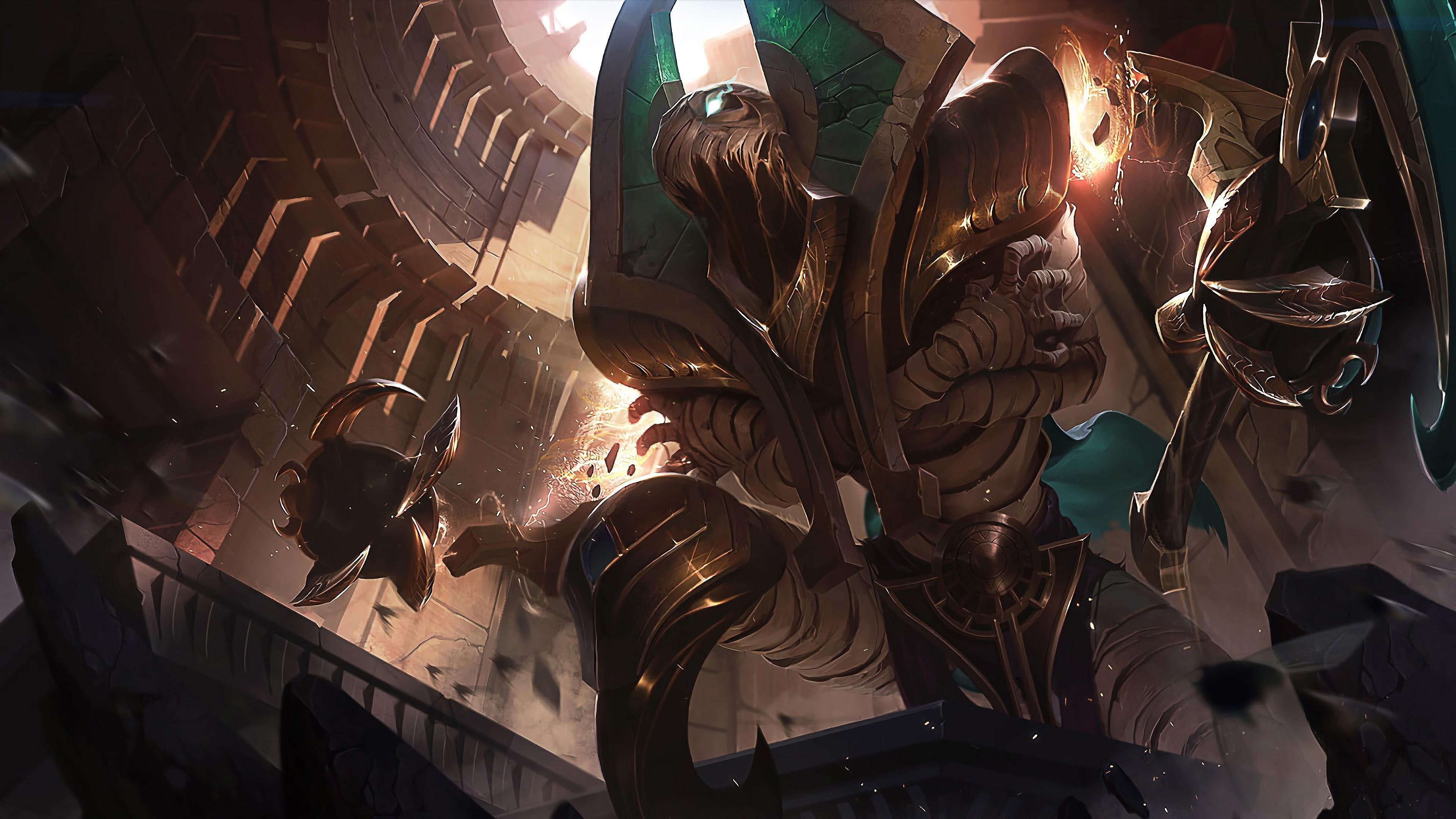 league of legends fiddlesticks risen uhd 4k wallpaper