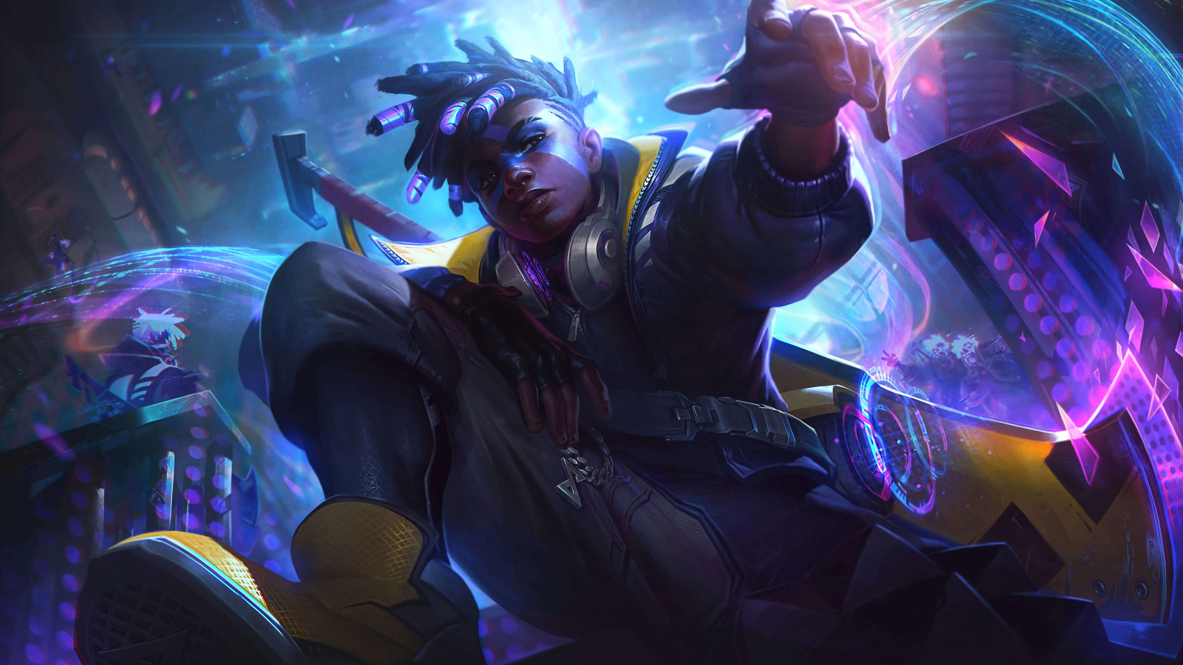 League Of Legends True Damage Ekko Uhd 4k Wallpaper Pixelz