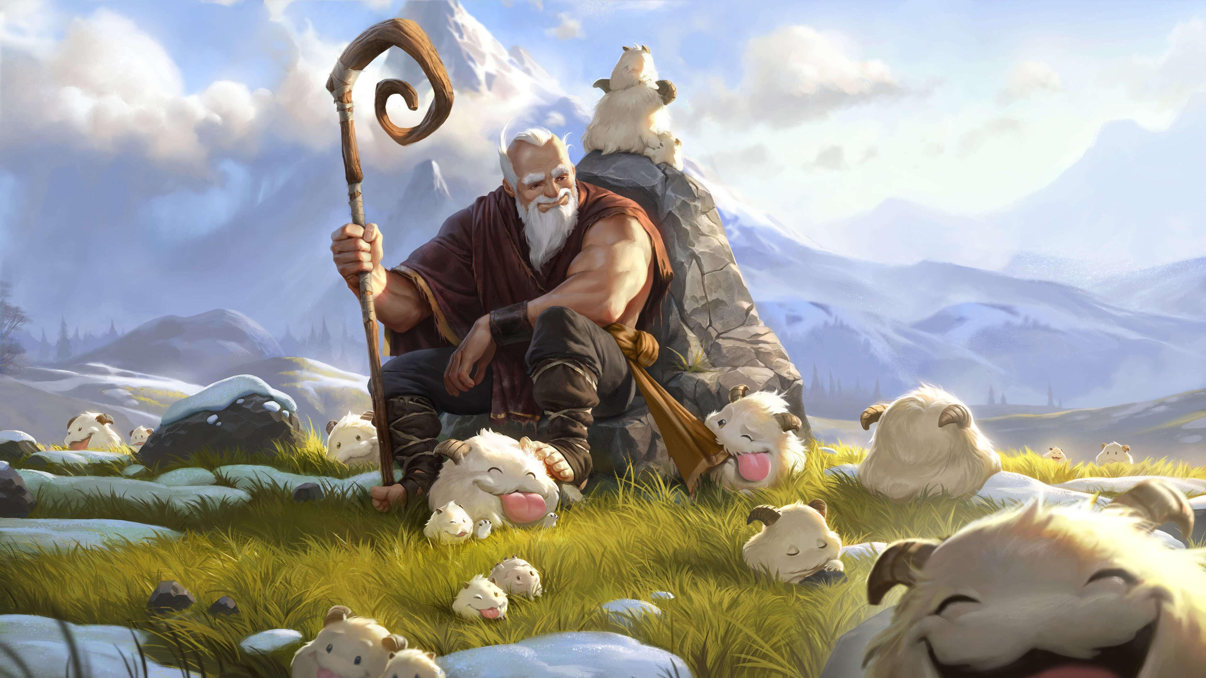 legends of runeterra poro herder uhd 4k wallpaper