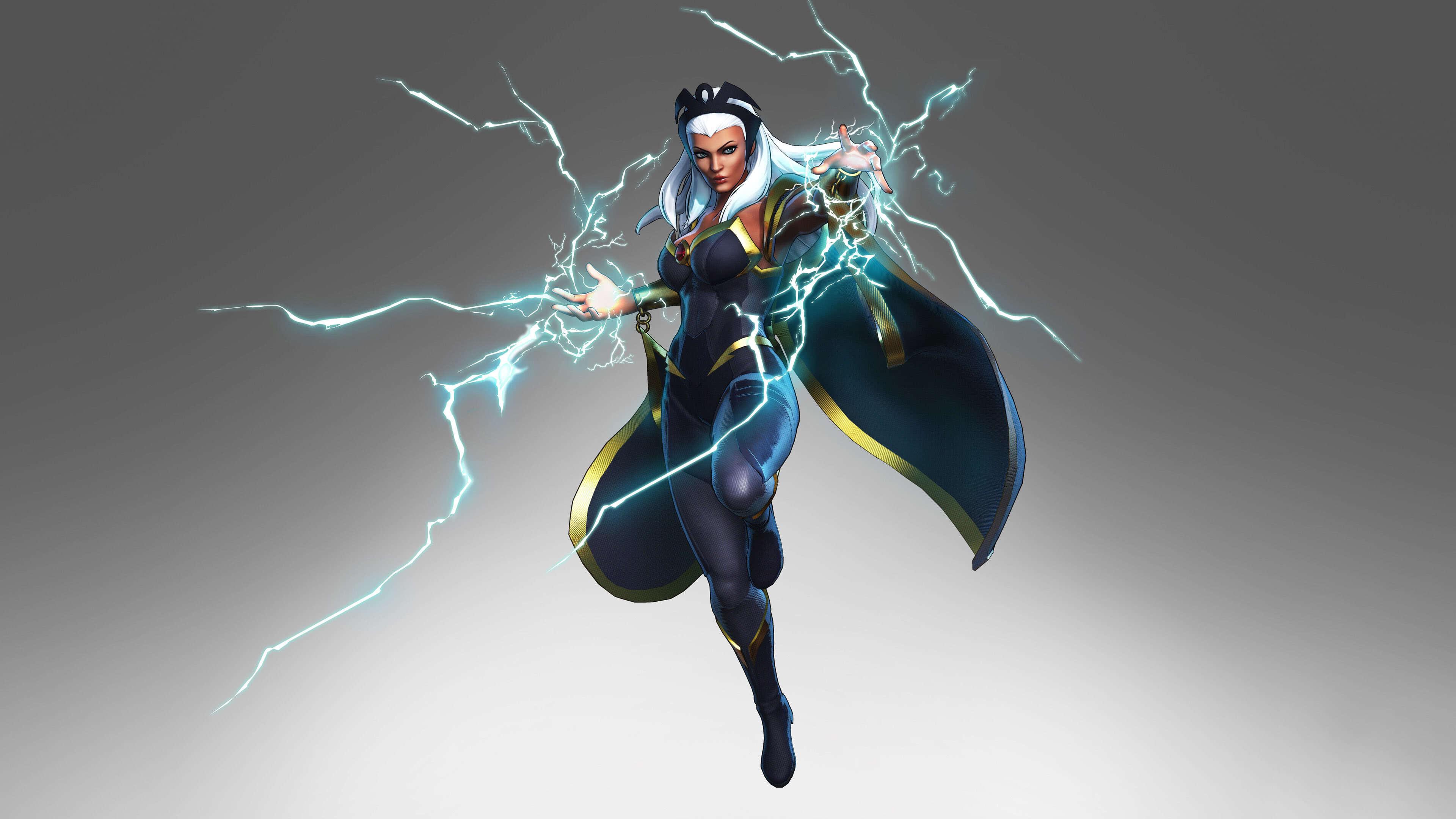 marvel ultimate alliance 3 storm lightning uhd 4k wallpaper