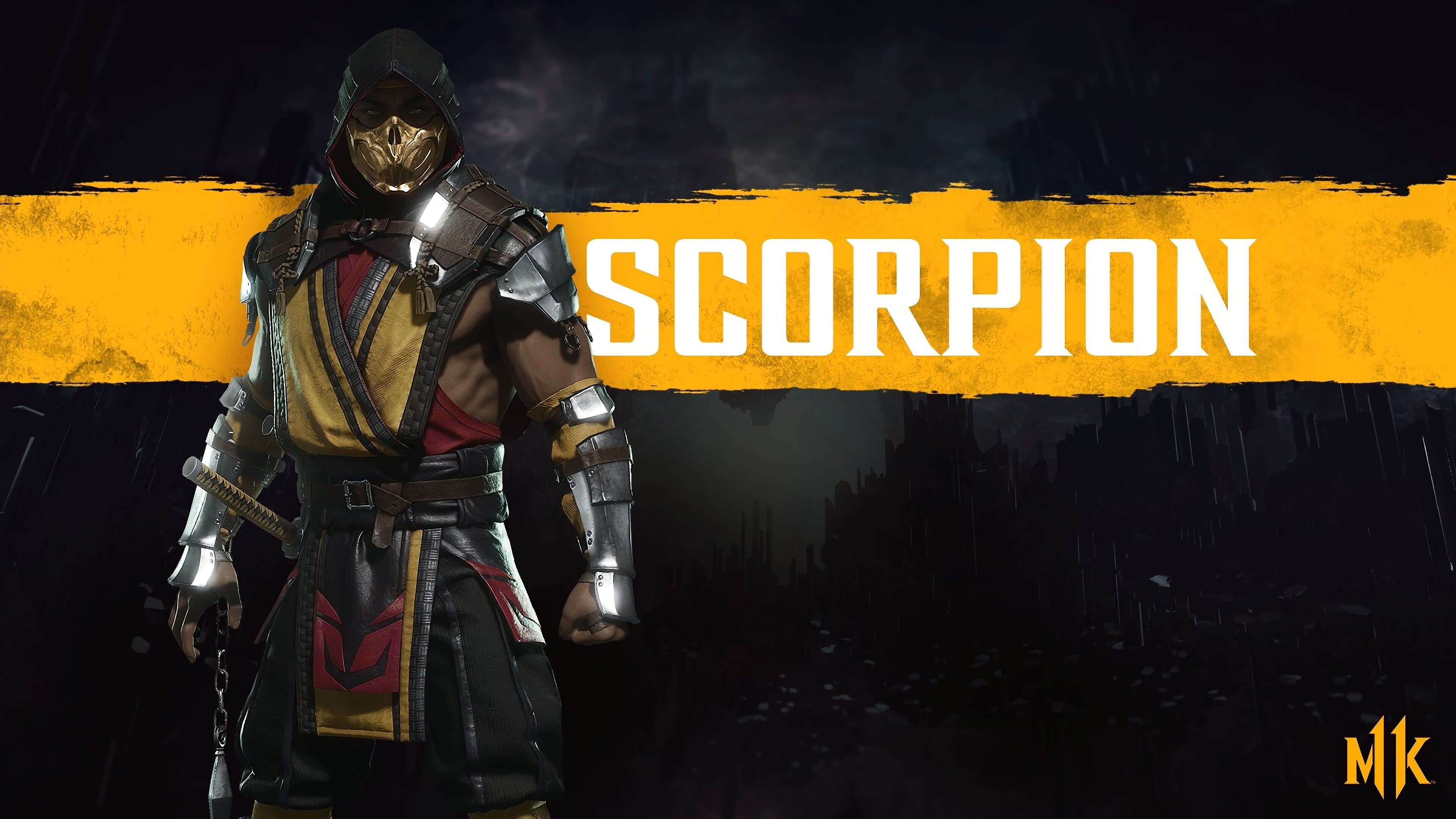 Mortal Kombat 11 Scorpion Uhd 4k Wallpaper Pixelz