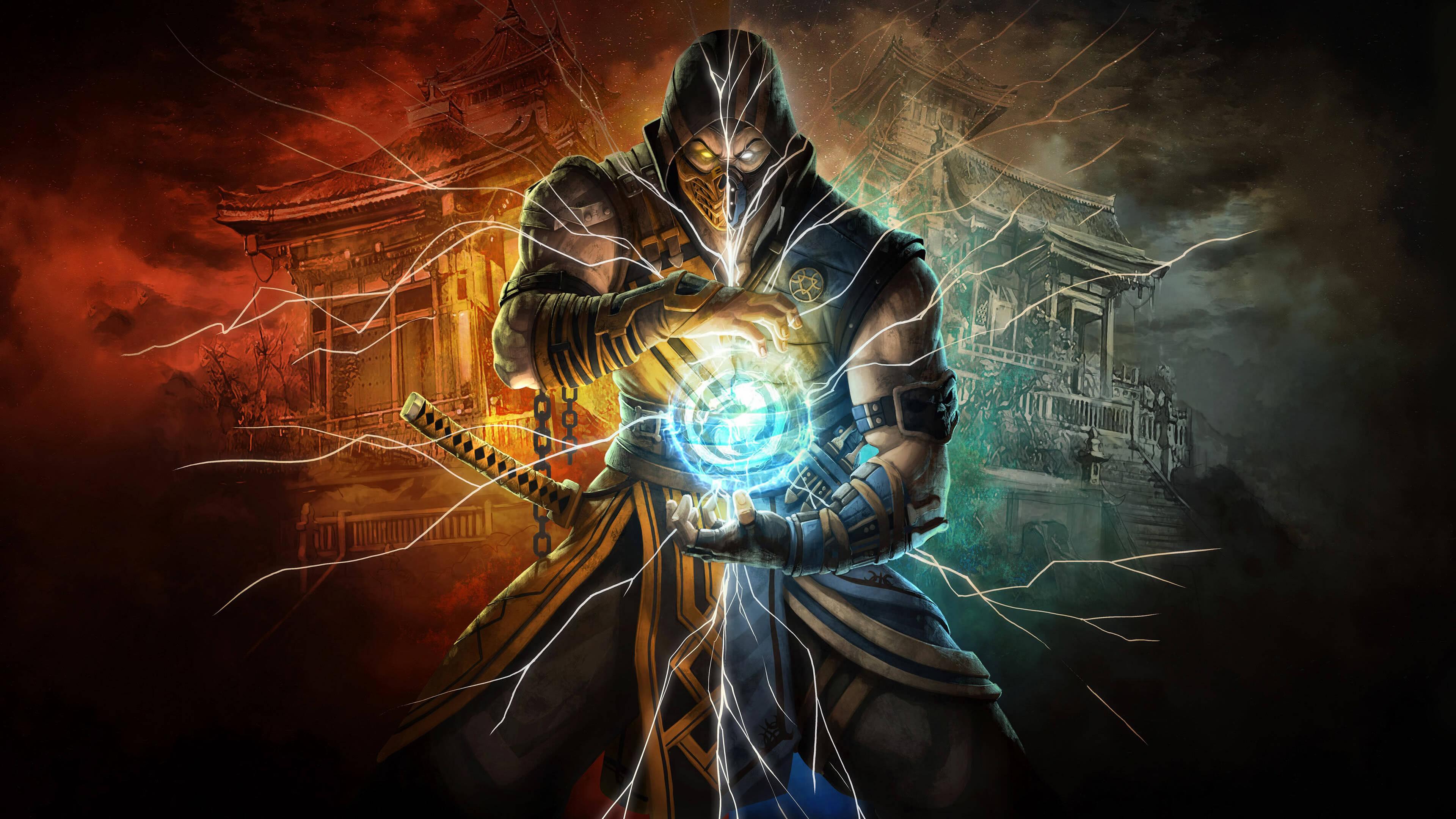 Mortal Kombat Scorpion Subzero UHD 4K