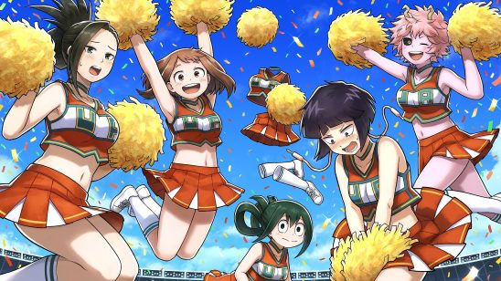 my hero academia cheerleaders uhd 4k wallpaper