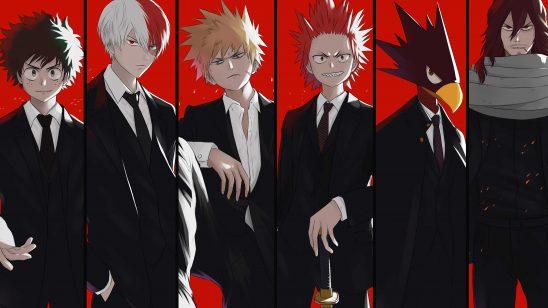 my hero academia izuku midoriya shoto todoroki katsuki bakugo eijiro kirishima fumikage tokoyami eraser head uhd 4k wallpaper