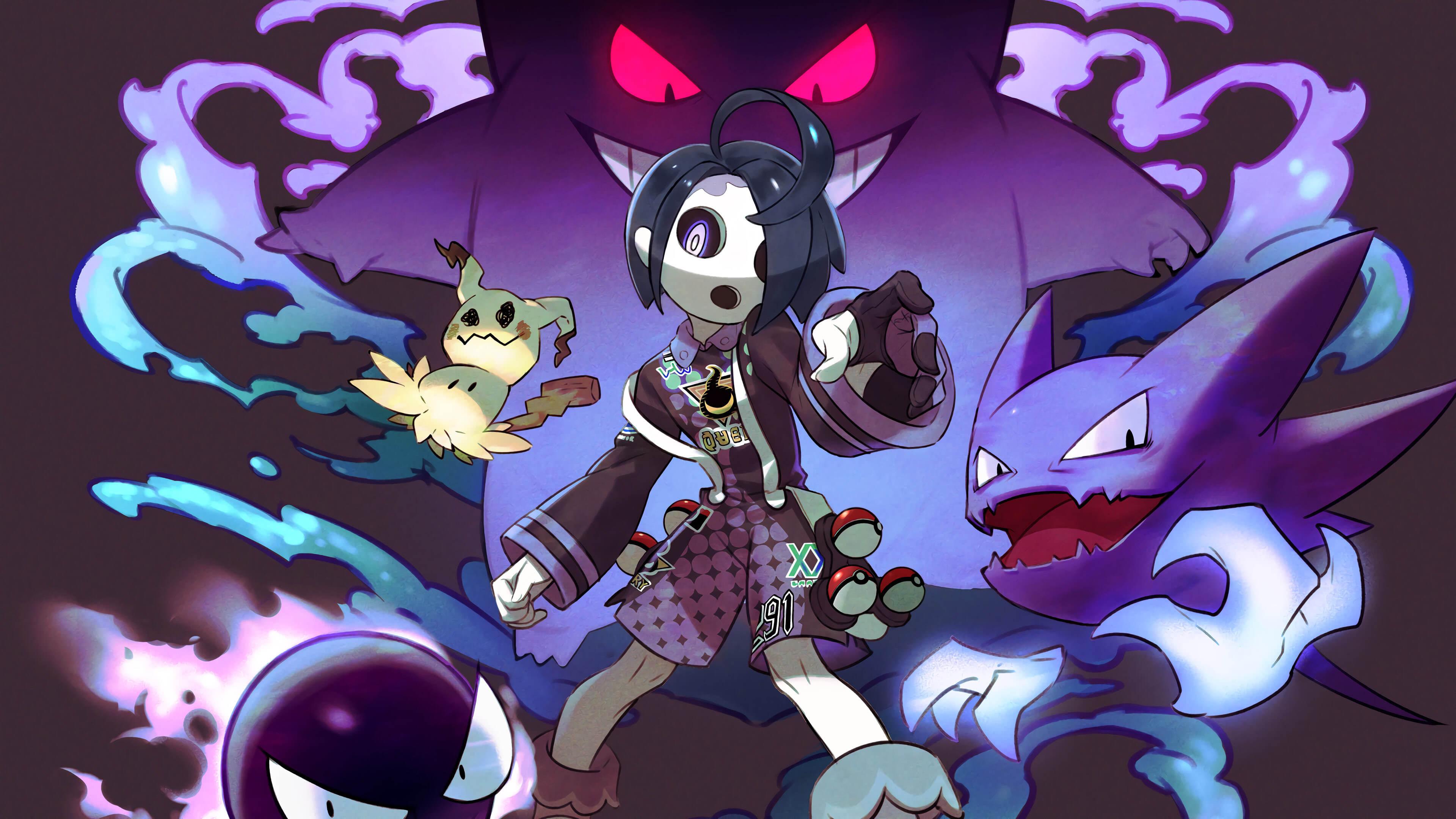 pokemon sword and shield allister gengar mimikyu gastly haunter uhd 4k wallpaper
