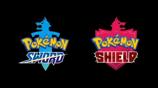 pokemon sword and shield logo uhd 4k wallpaper