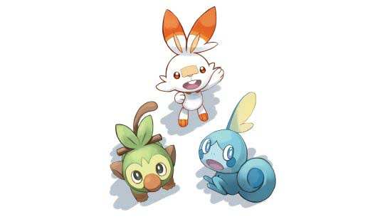 pokemon sword and shield scorbunny grookey sobble uhd 4k wallpaper