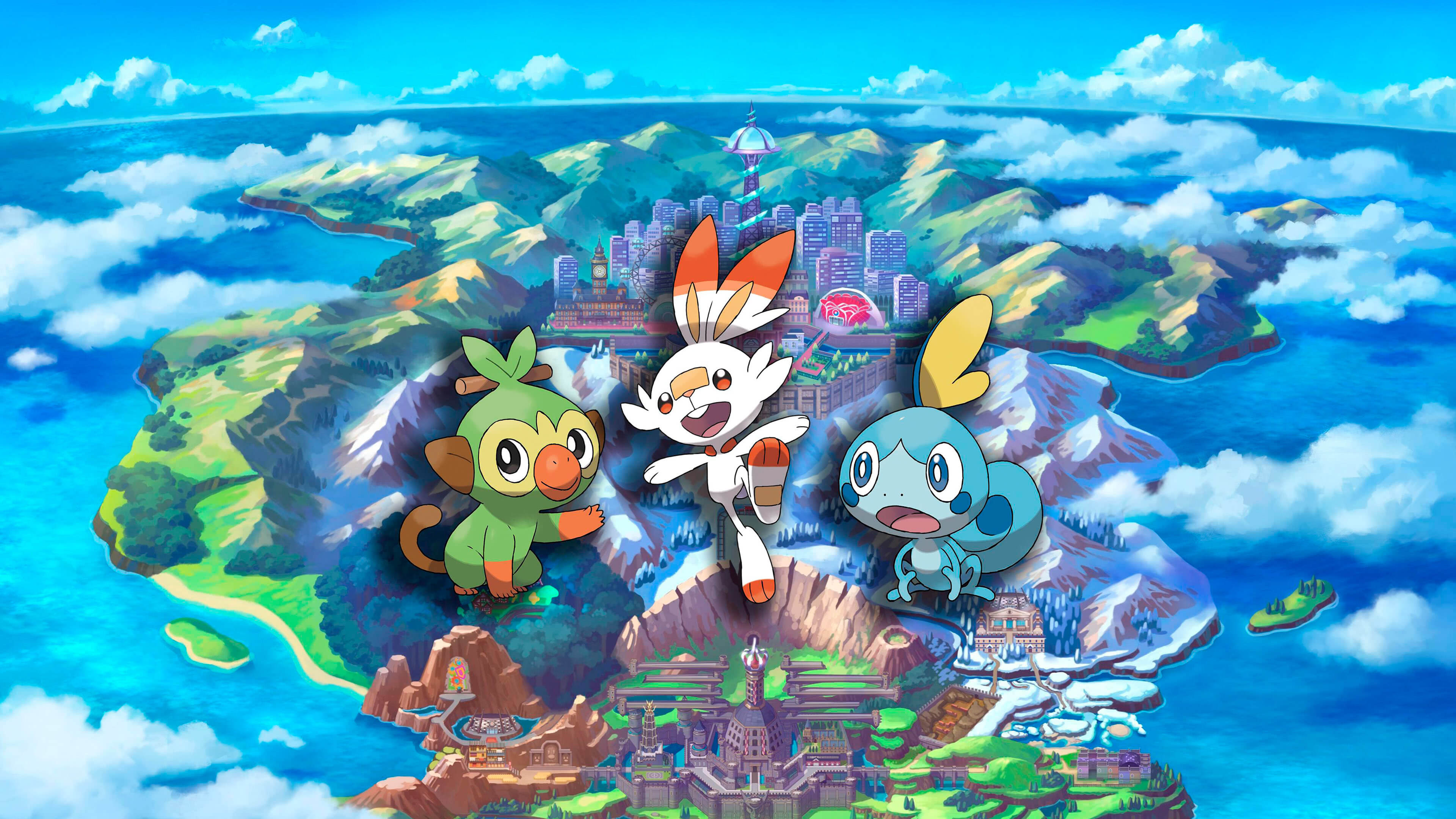 Pokemon Sword And Shield Sobble Grookey Scorbunny Uhd 4k Wallpaper Pixelz Grookey is the pokemon whish has one type (grass) from the 8 generation. pokemon sword and shield sobble grookey