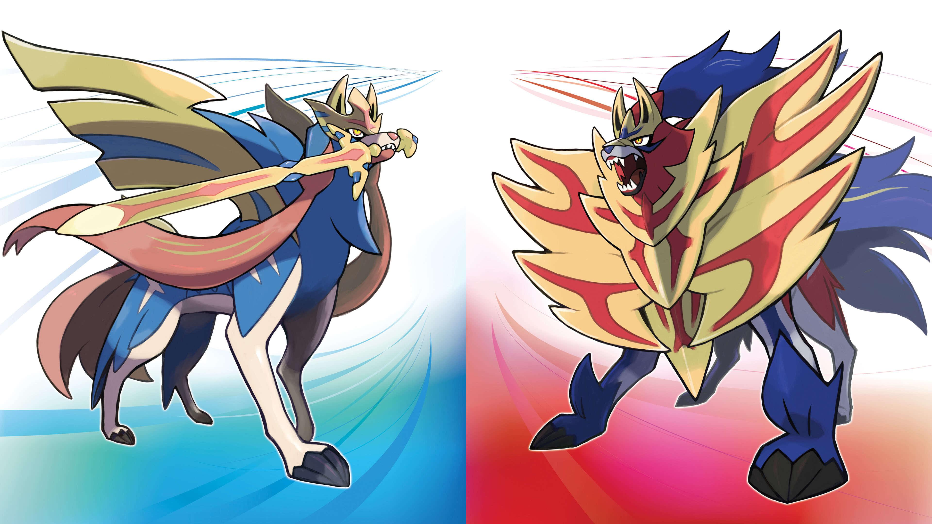 pokemon sword and shield zacian and zamazenta uhd 4k wallpaper