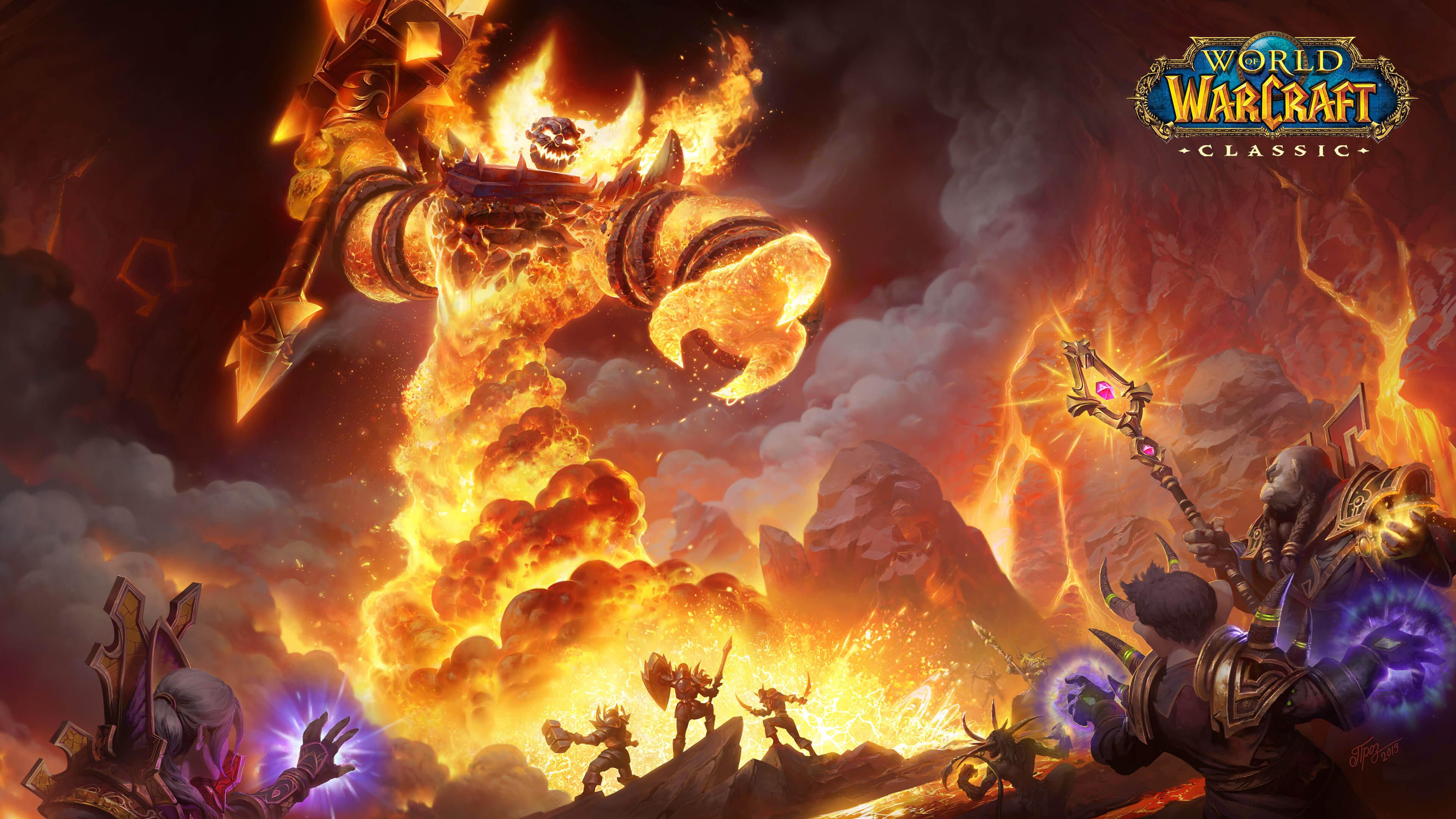 world of warcraft classic raid uhd 4k wallpaper