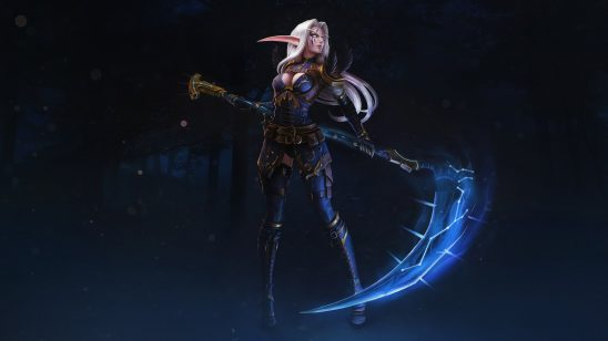 world of warcraft night elf scythe uhd 4k wallpaper