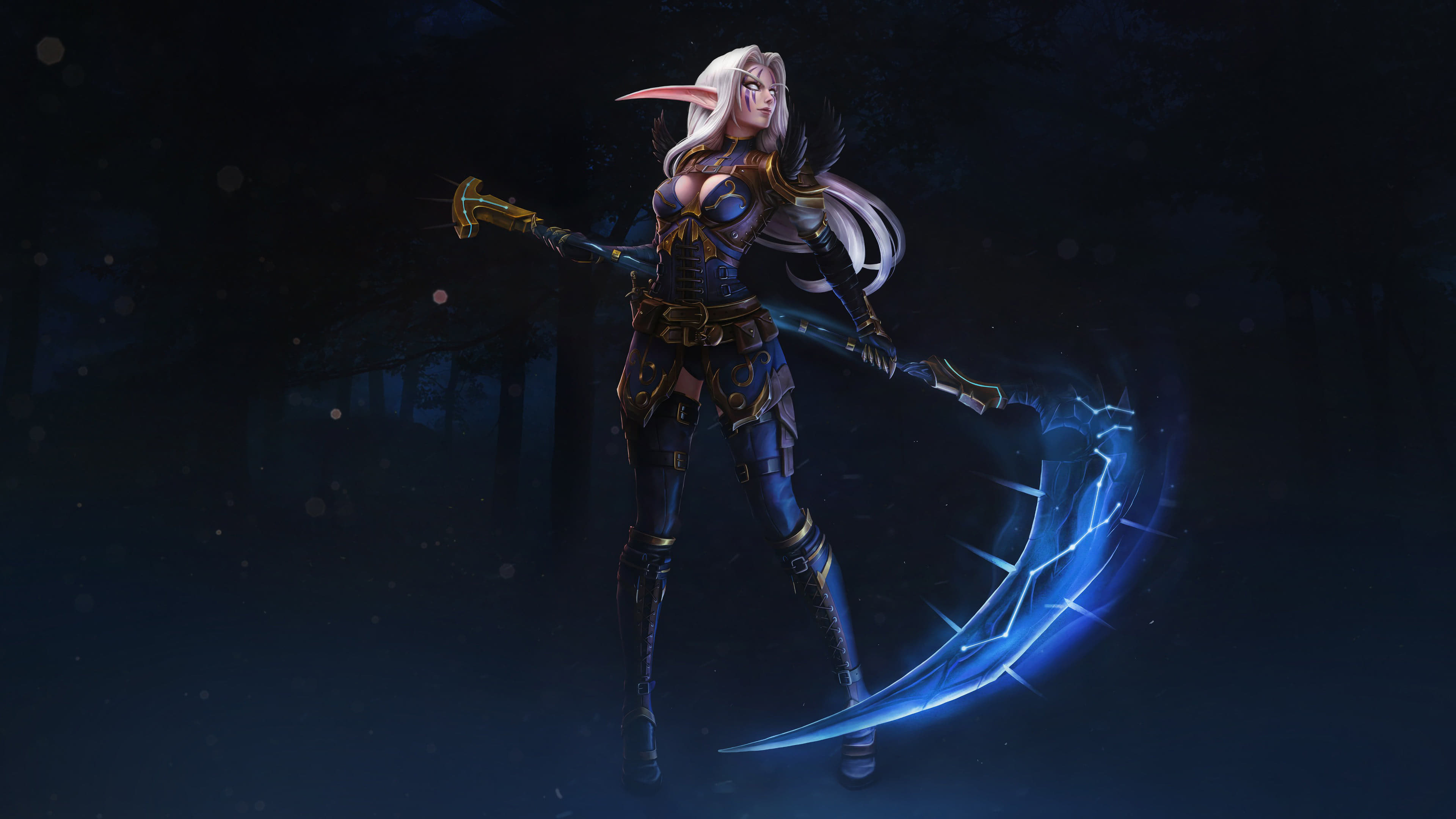 World Of Warcraft Night Elf Scythe Uhd 4k Wallpaper Pixelz