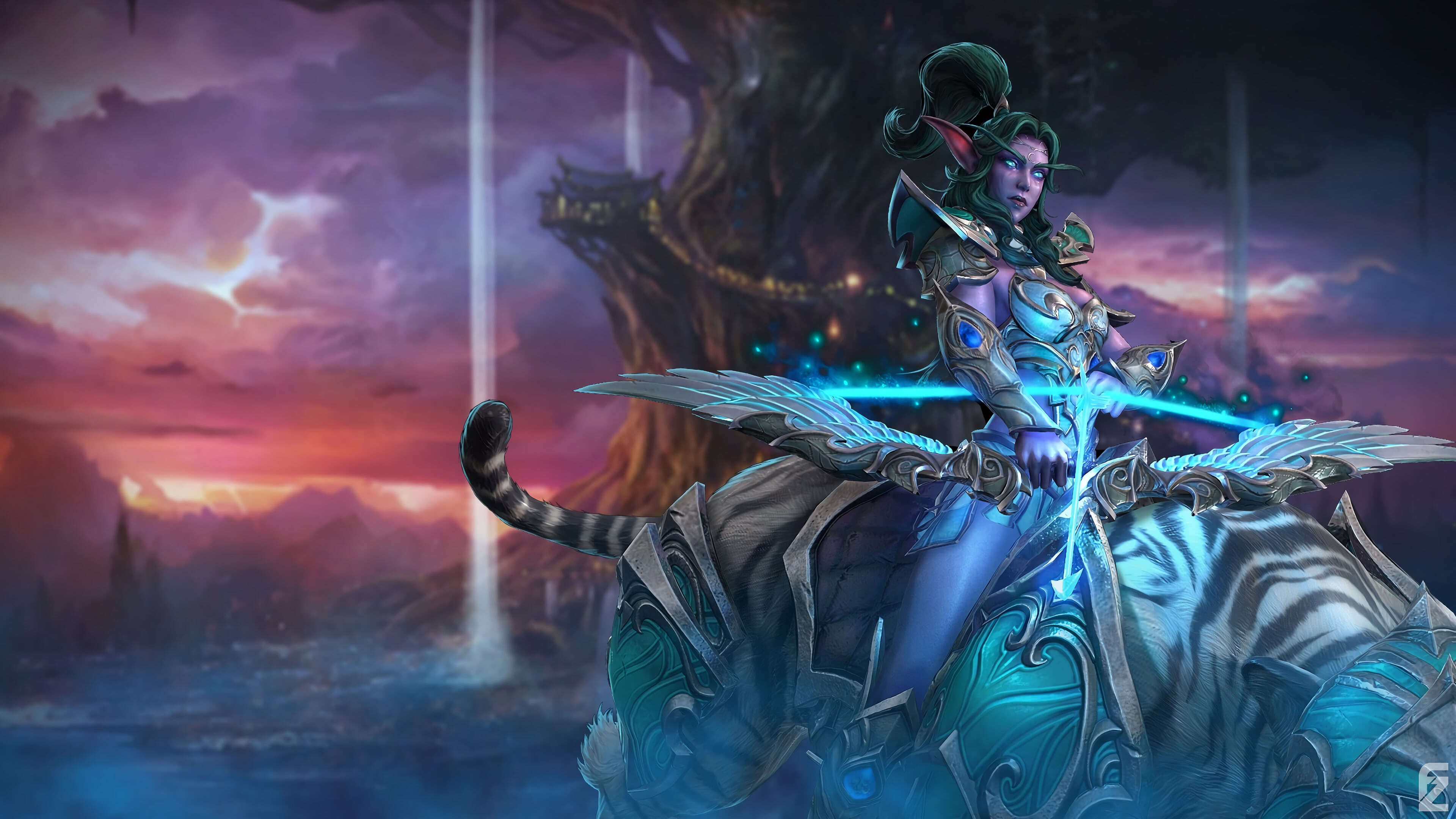 World Of Warcraft Tyrande Whisperwind Uhd 4k Wallpaper Pixelz