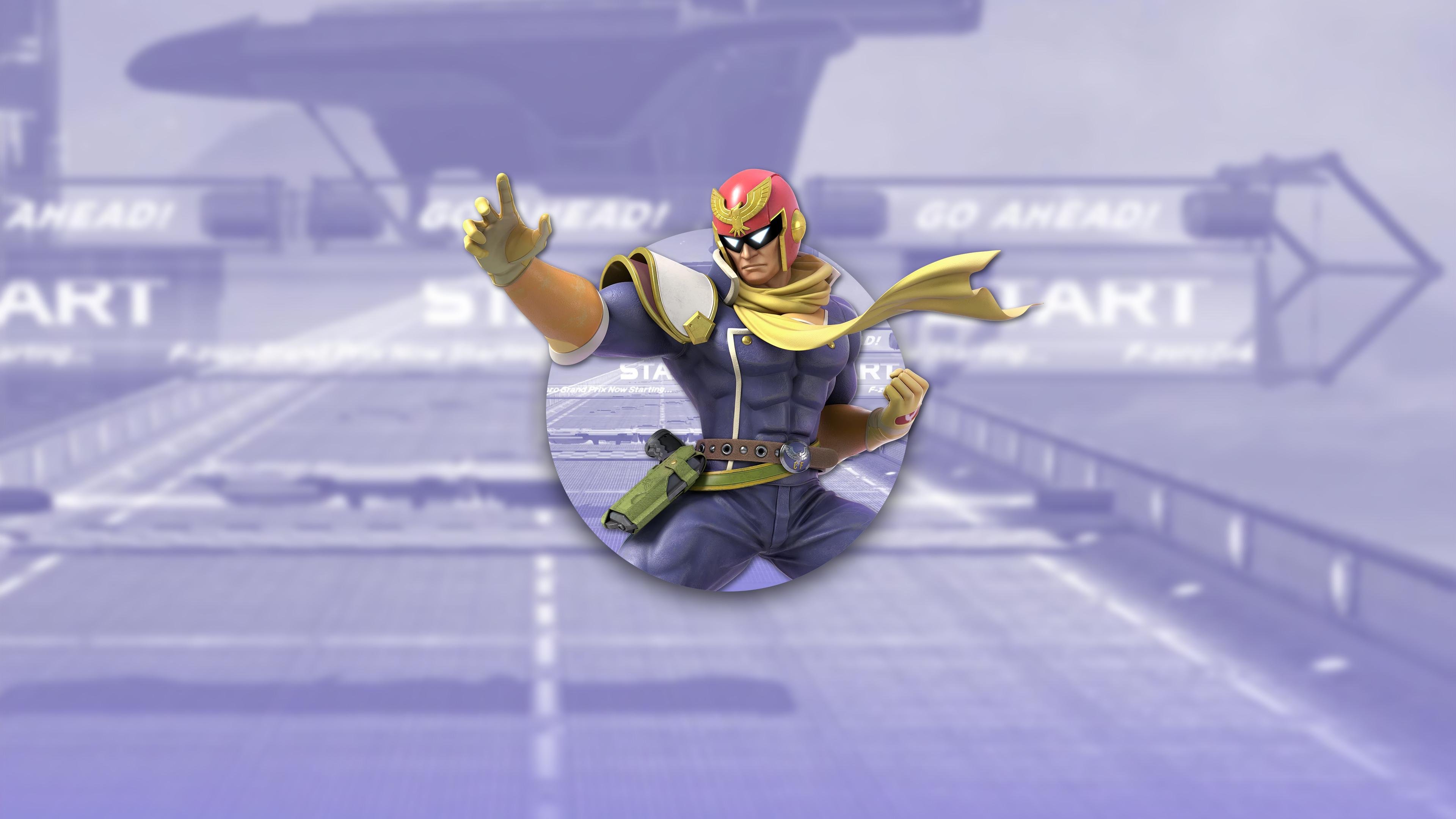 super smash bros ultimate captain falcon uhd 4k wallpaper