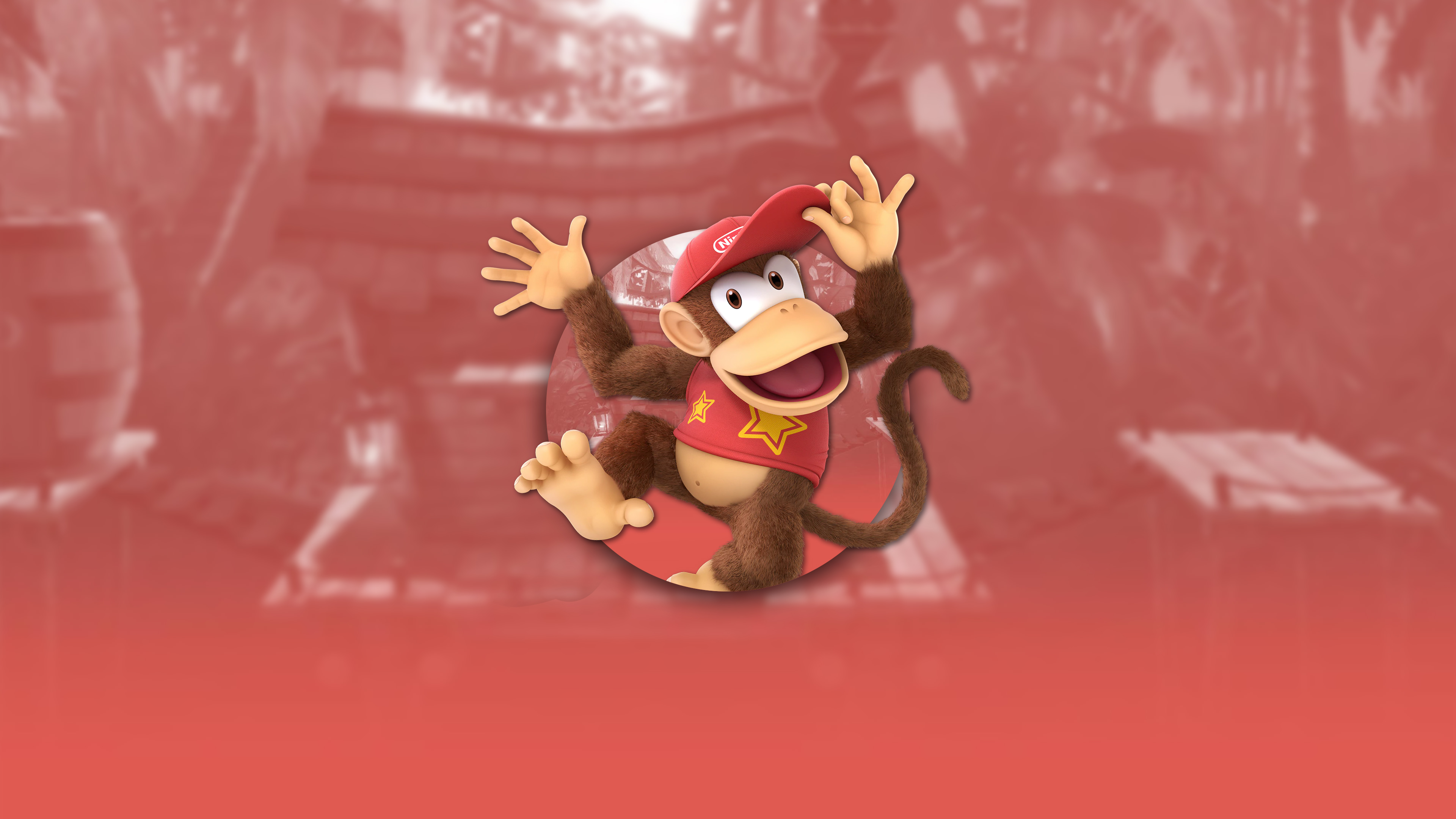 super smash bros ultimate diddy kong uhd 4k wallpaper