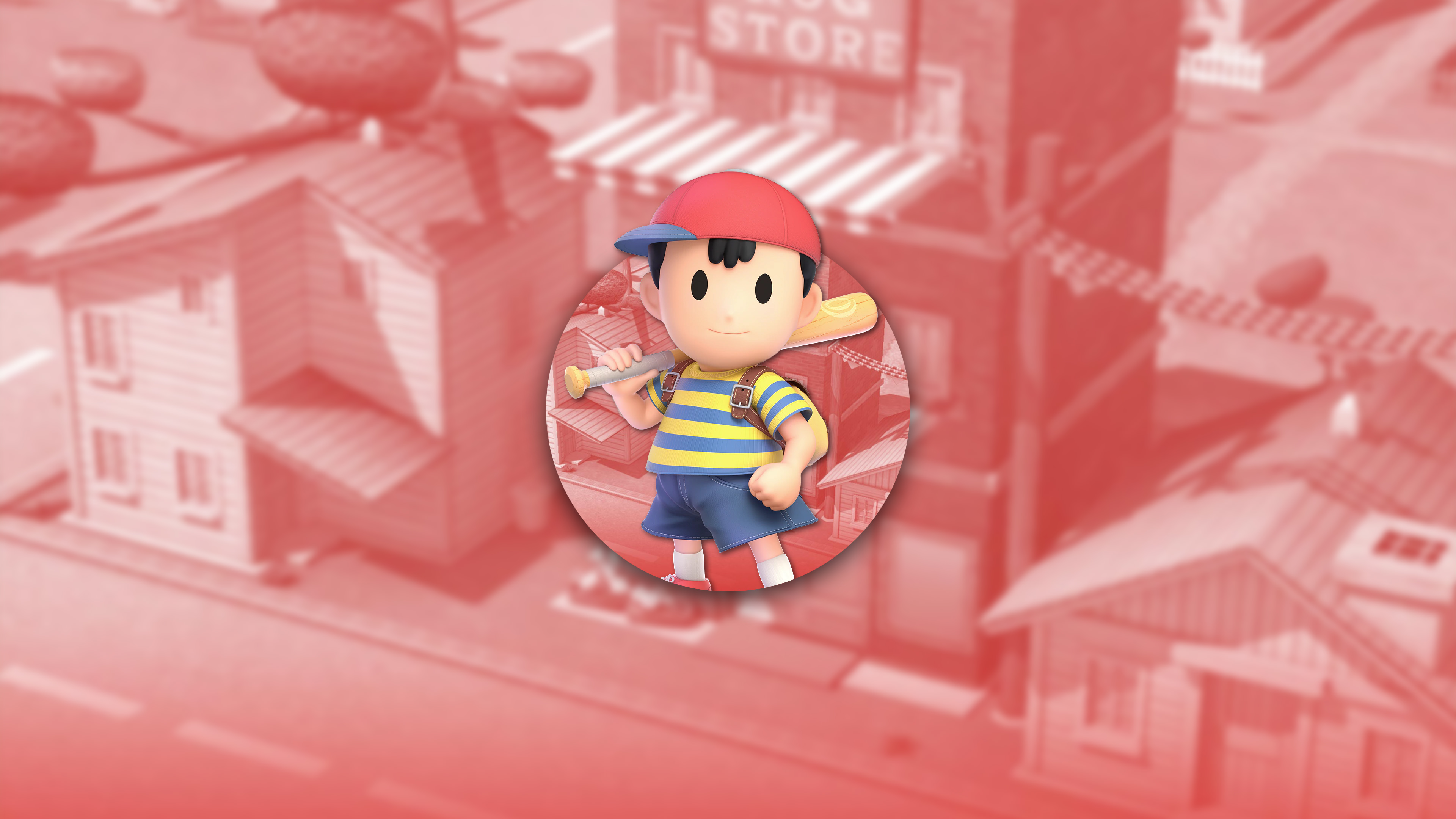 super smash bros ultimate ness uhd 4k wallpaper