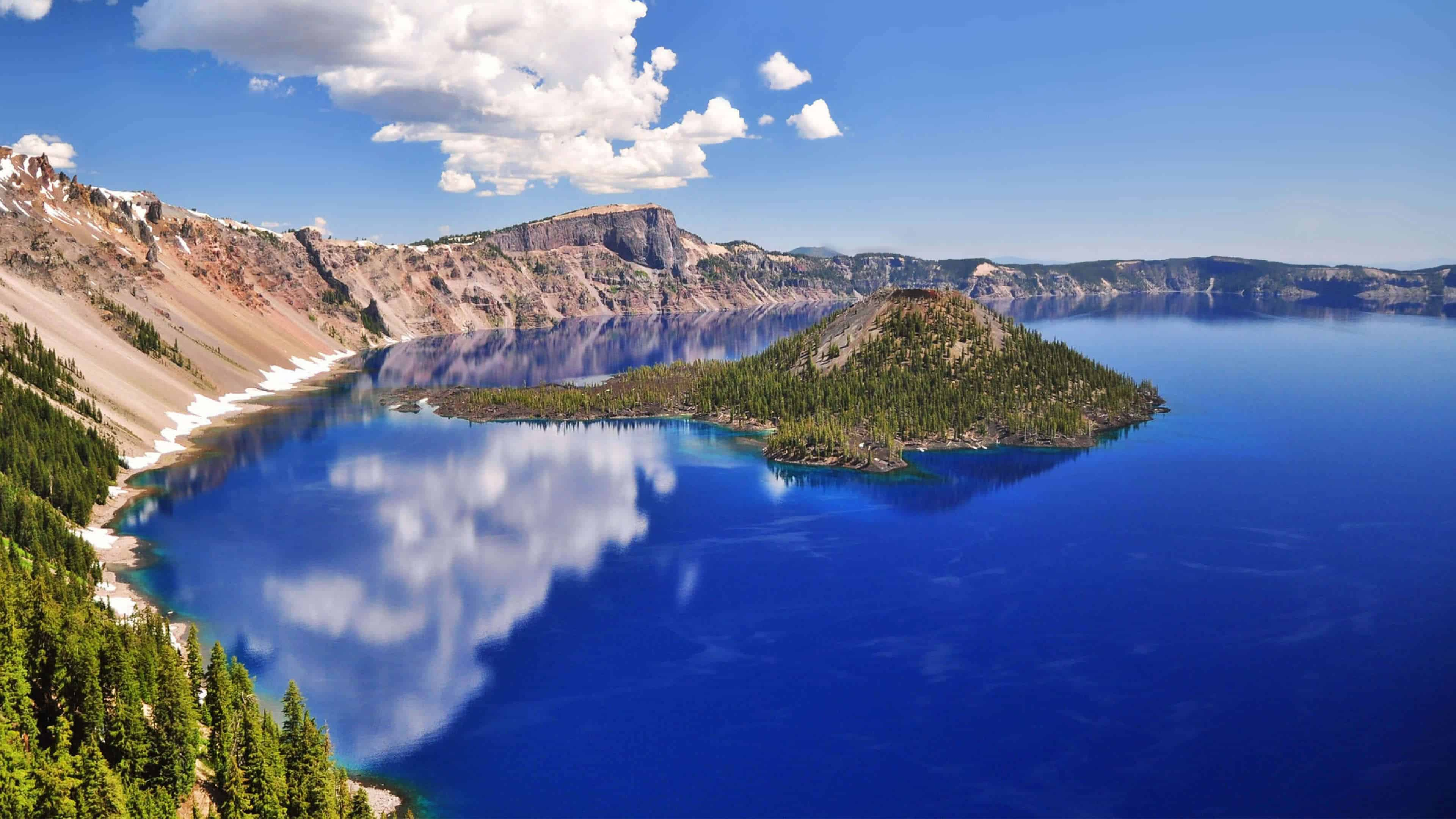 crater lake national park oregon united states 4k wallpaper