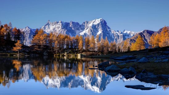 mont blanc autumn uhd 4k wallpaper